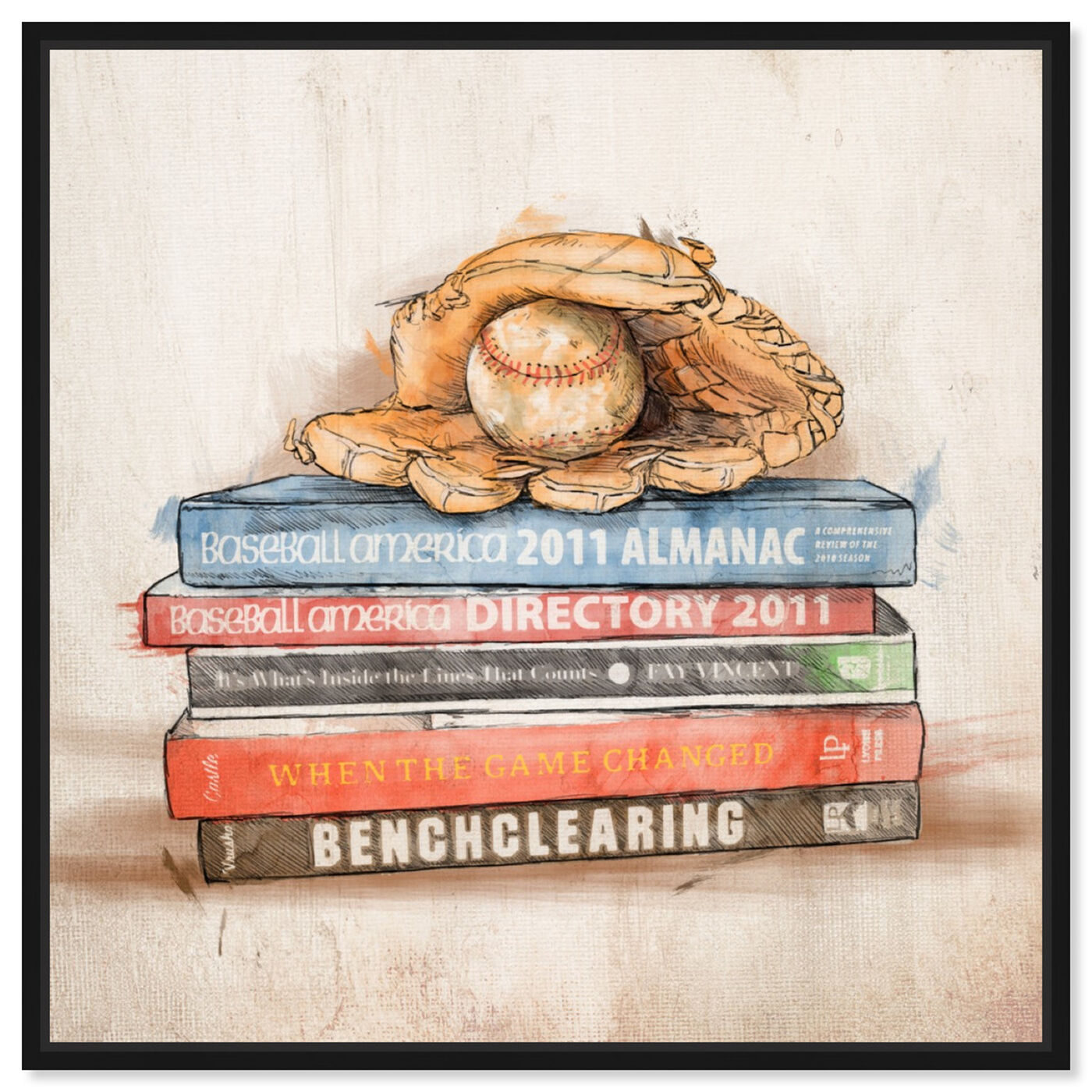 Front view of Baseball Books featuring sports and teams and baseball art.