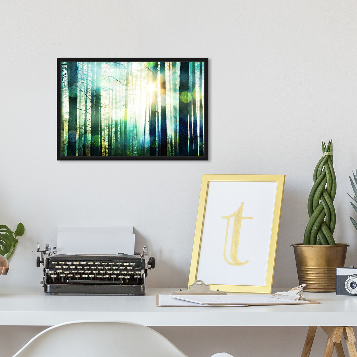 Hanging view of Breathe Deep featuring nature and landscape and forest landscapes art.