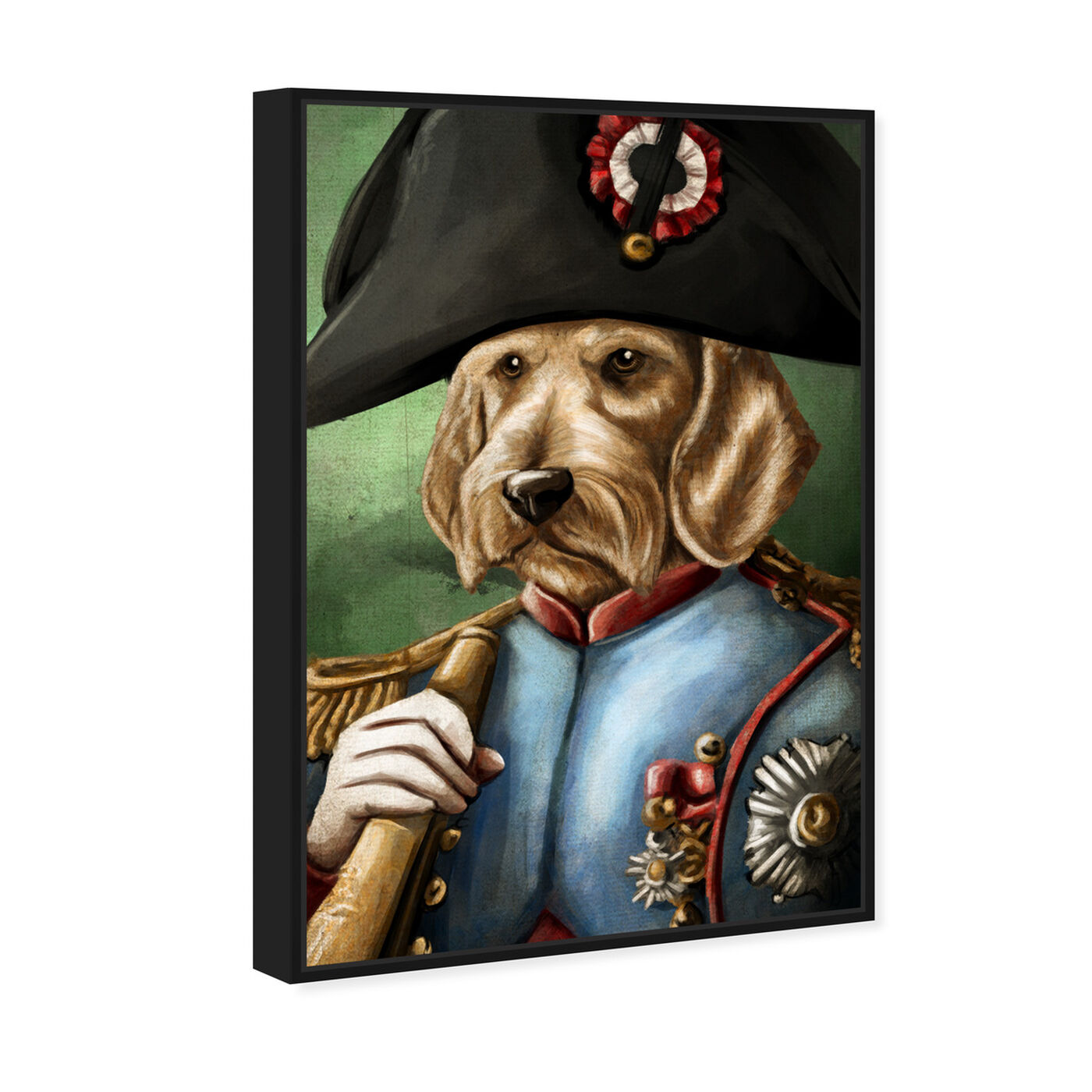Angled view of Sargent Wired Dashchund featuring animals and dogs and puppies art.