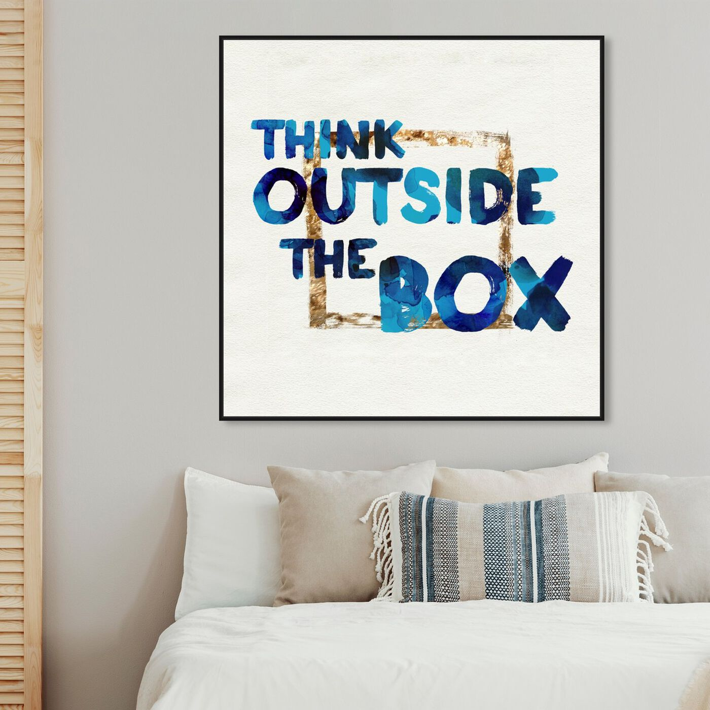 Hanging view of Think Outside featuring typography and quotes and motivational quotes and sayings art.