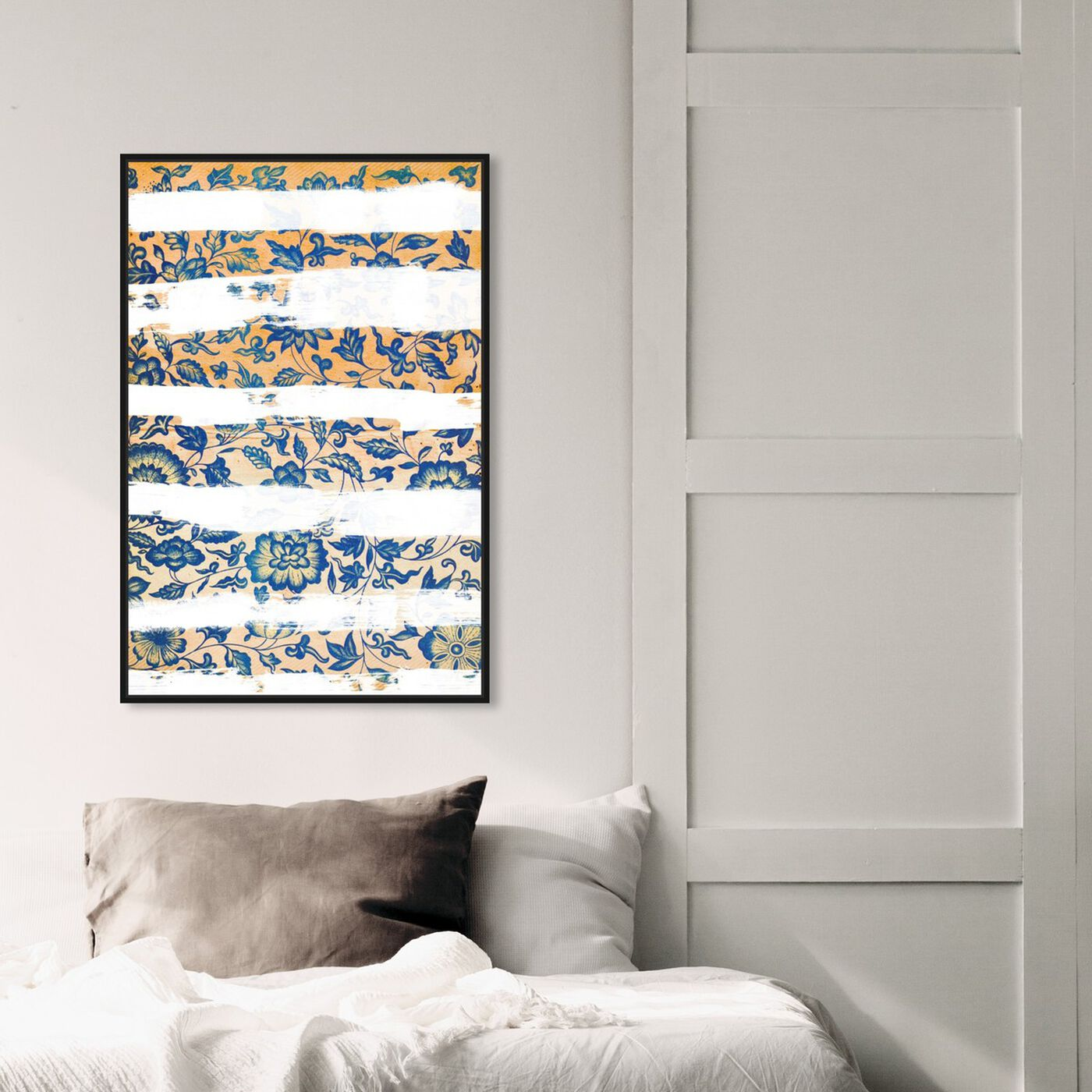Hanging view of Vintage Strokes featuring abstract and flowers art.