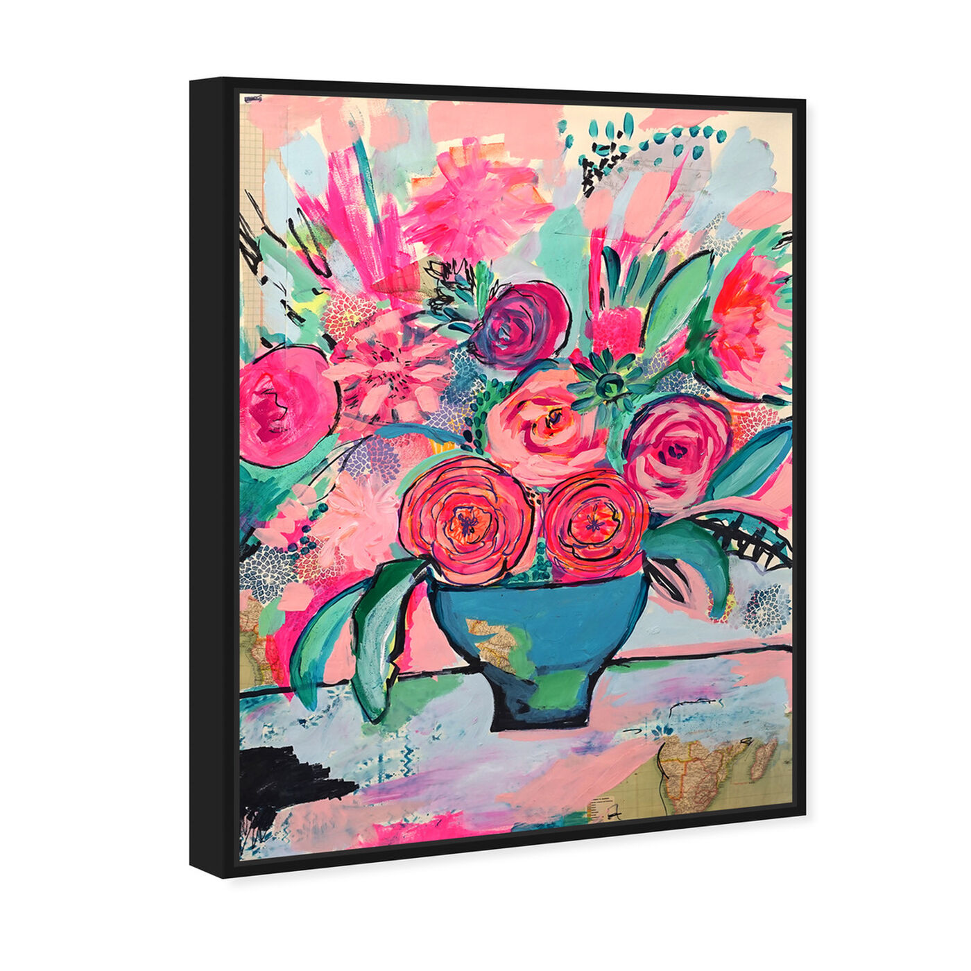 Angled view of Viva la Vida featuring floral and botanical and florals art.