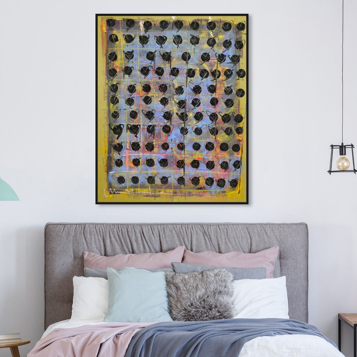 Hanging view of XCIX by Tiago Magro featuring abstract and paint art.