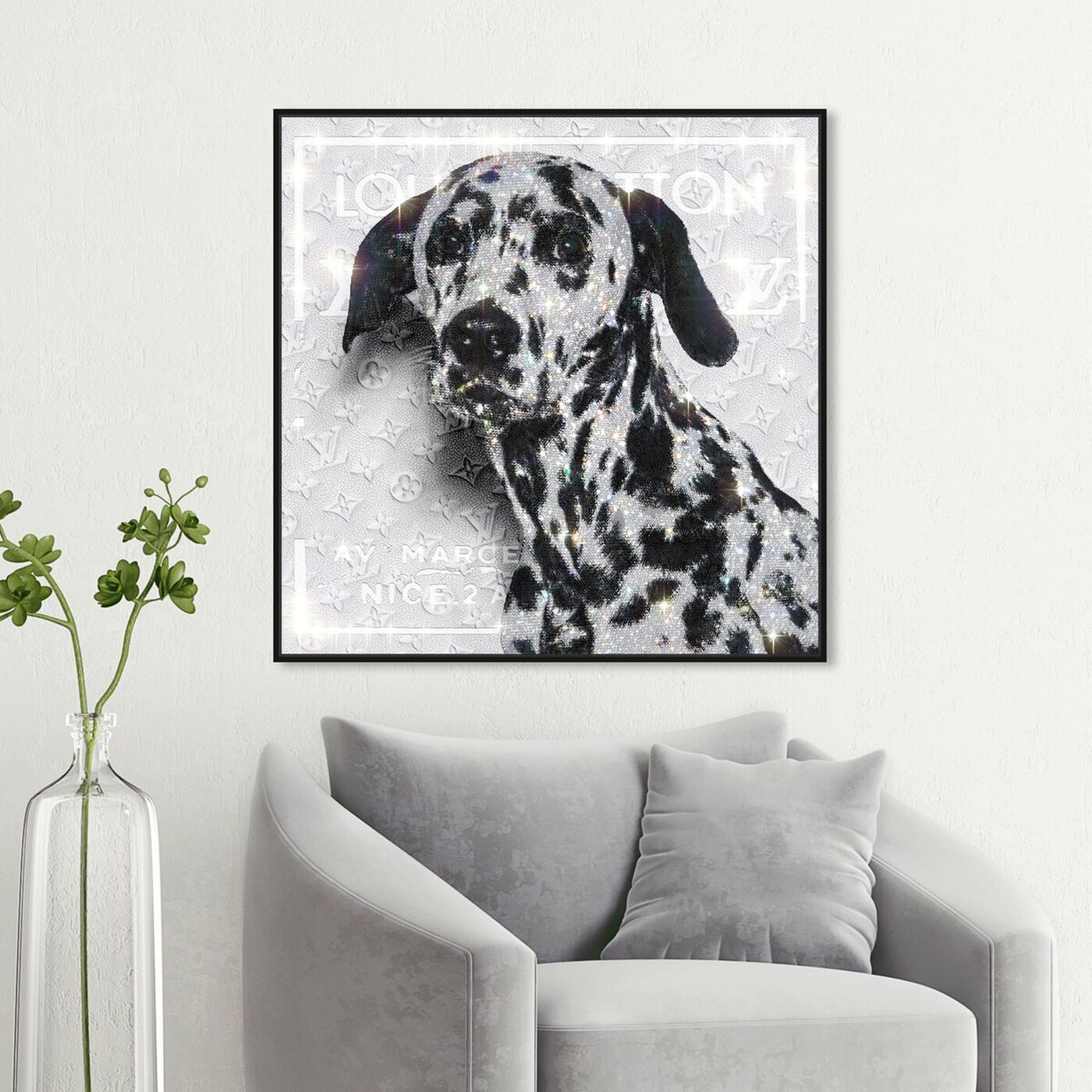 Hanging view of Off Dalmatian featuring fashion and glam and lifestyle art.