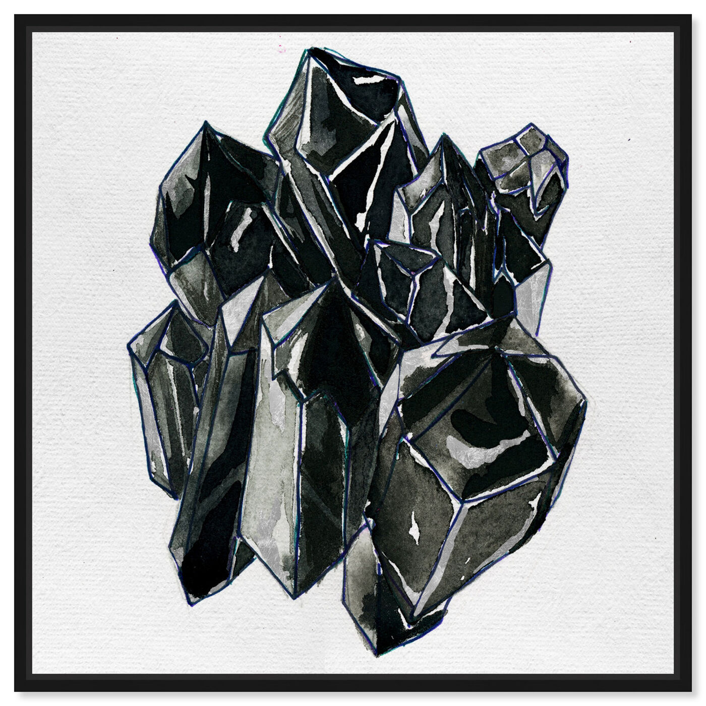 Front view of Precious Crystals II featuring abstract and crystals art.