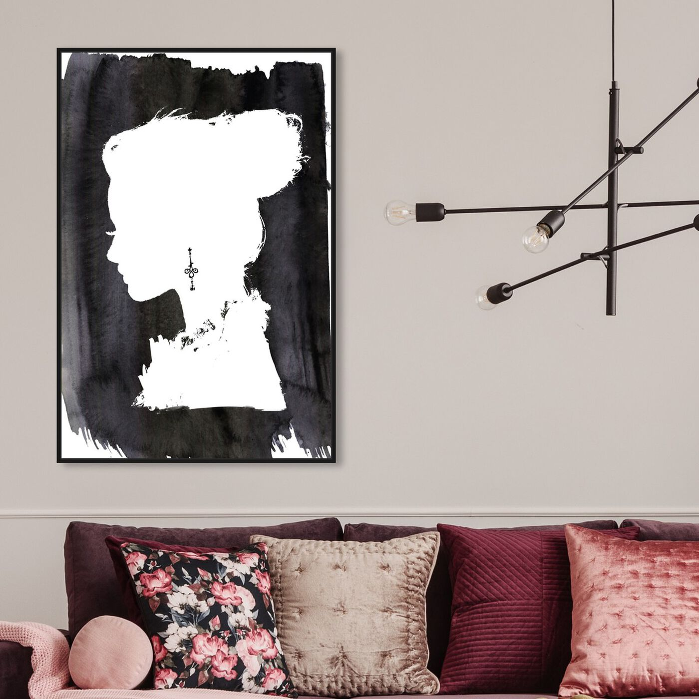 Hanging view of Beauté featuring fashion and glam and portraits art.