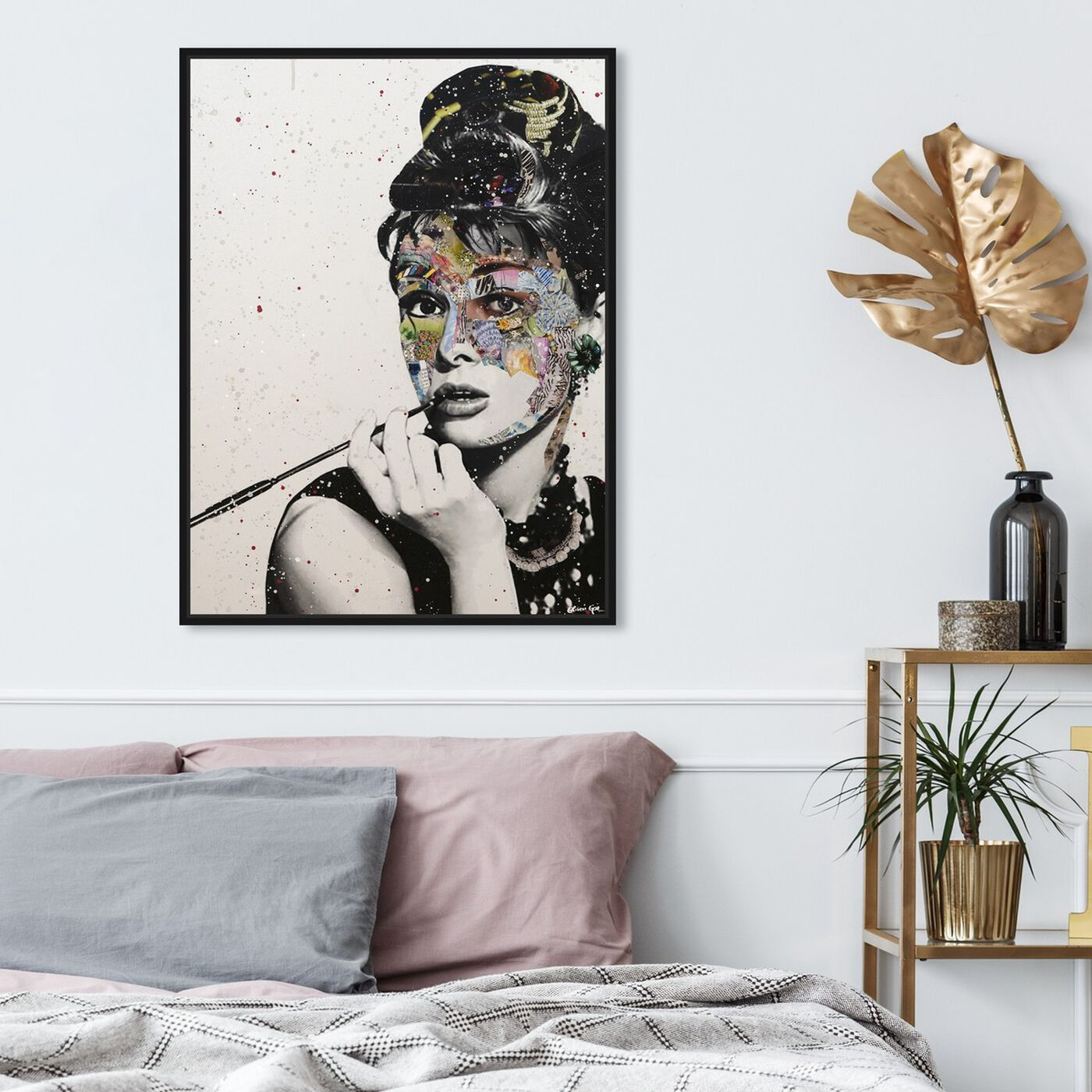 Hanging view of Katy Hirschfeld - NY Princess featuring fashion and glam and portraits art.