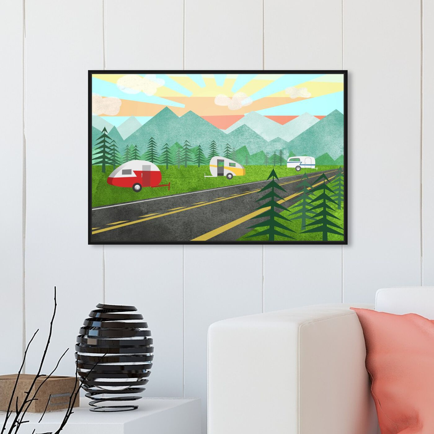 Hanging view of Campers In the Wild featuring entertainment and hobbies and camping art.