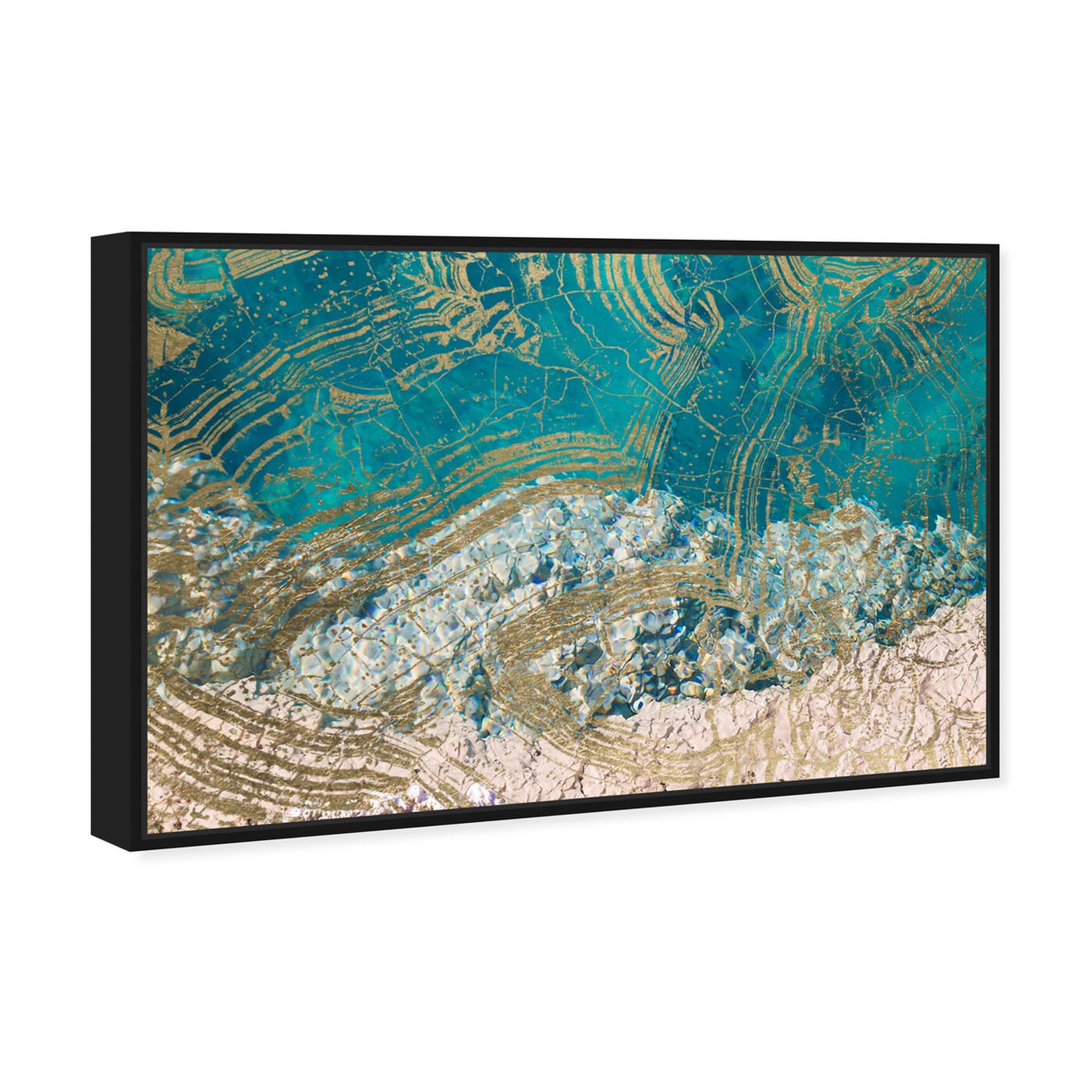 Angled view of Salt Water featuring abstract and textures art.