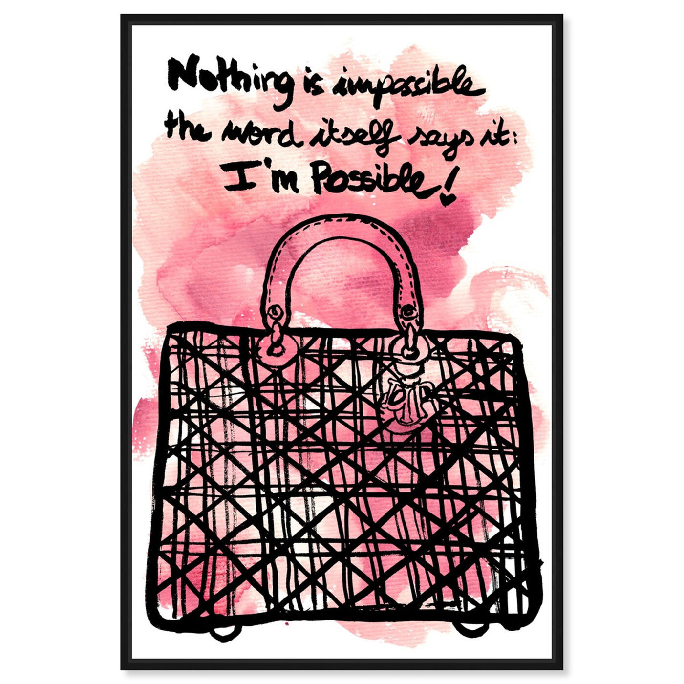 Front view of Nothing is Impossible featuring fashion and glam and handbags art.