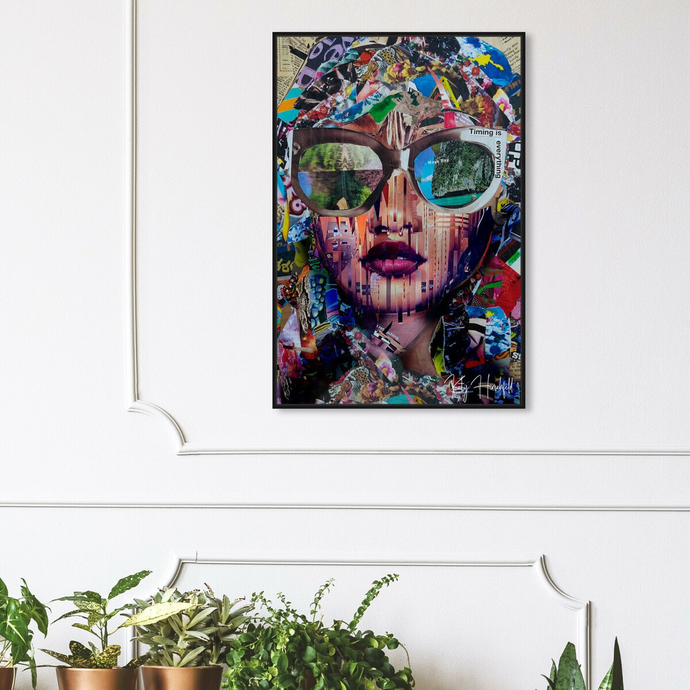 Hanging view of Katy Hirshfeld - Timing is Real featuring abstract and textures art.