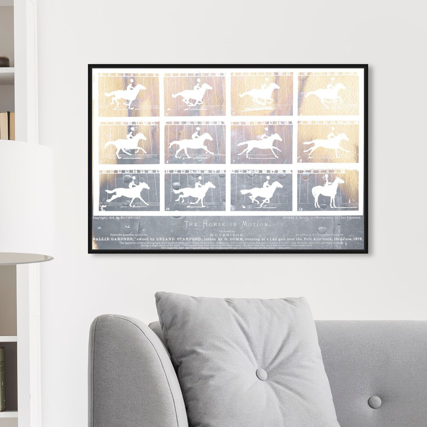 Hanging view of The Horse in Motion featuring animals and farm animals art.