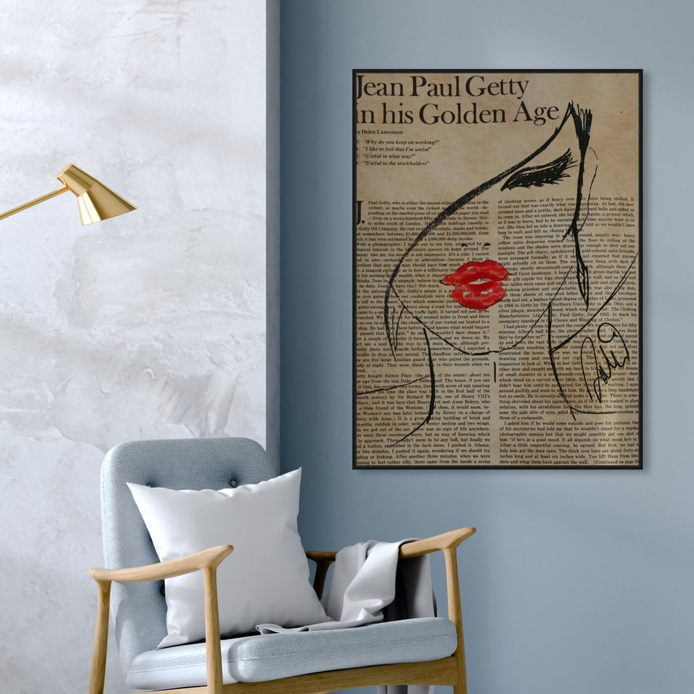 Hanging view of Fashionista featuring fashion and glam and portraits art.