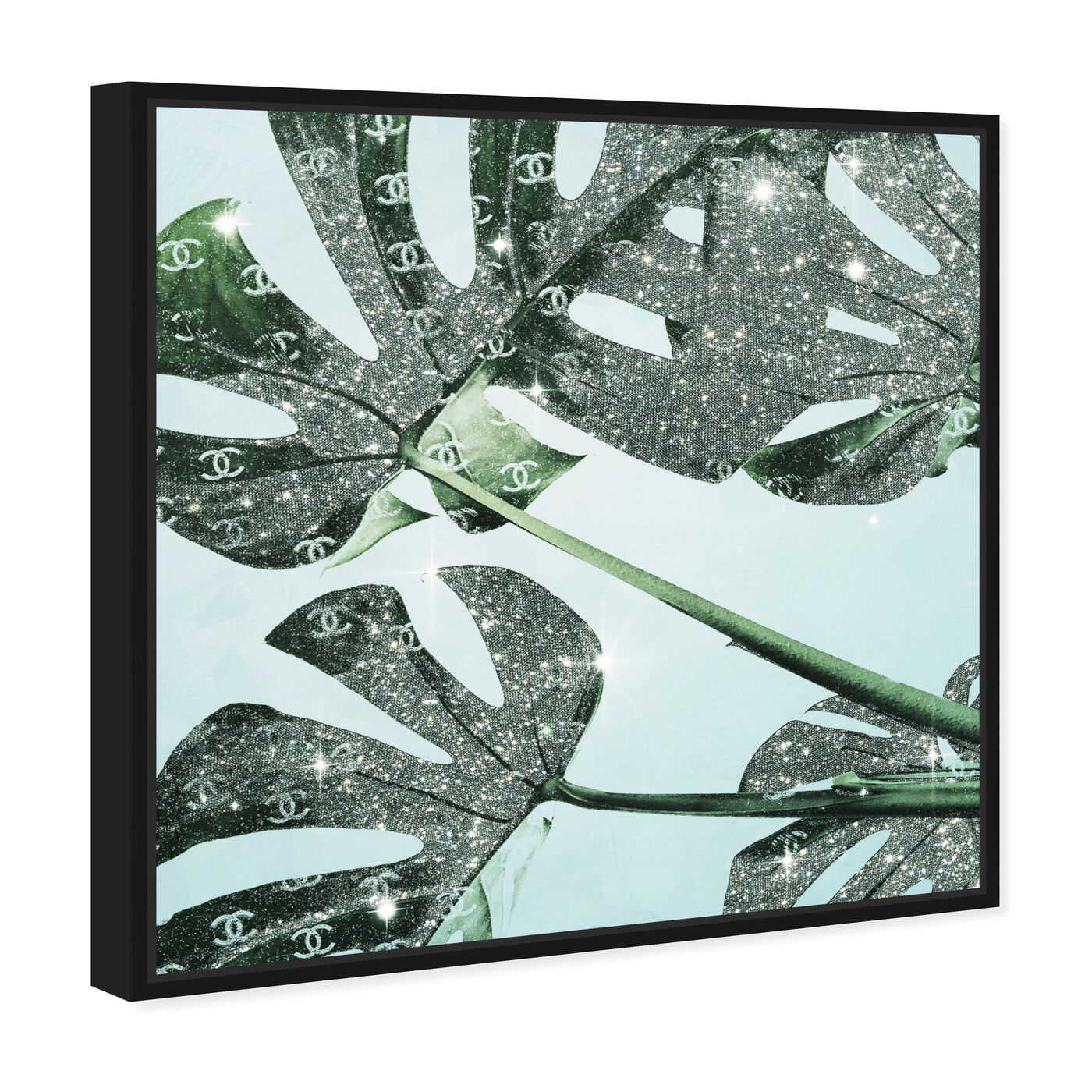 Angled view of Glistening Monstera featuring fashion and glam and lifestyle art.