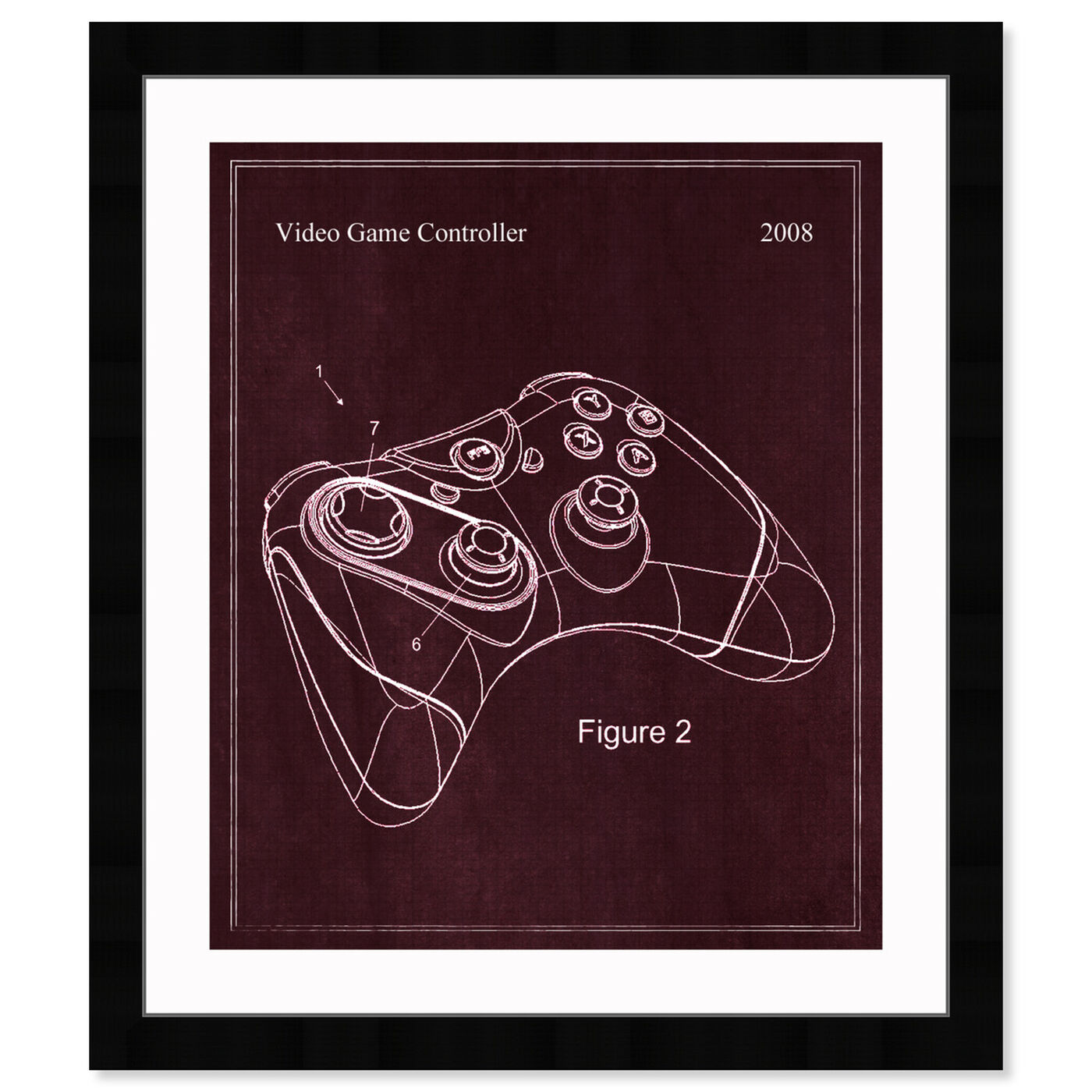 Front view of Video Game Controller, 2008 featuring entertainment and hobbies and video games art.