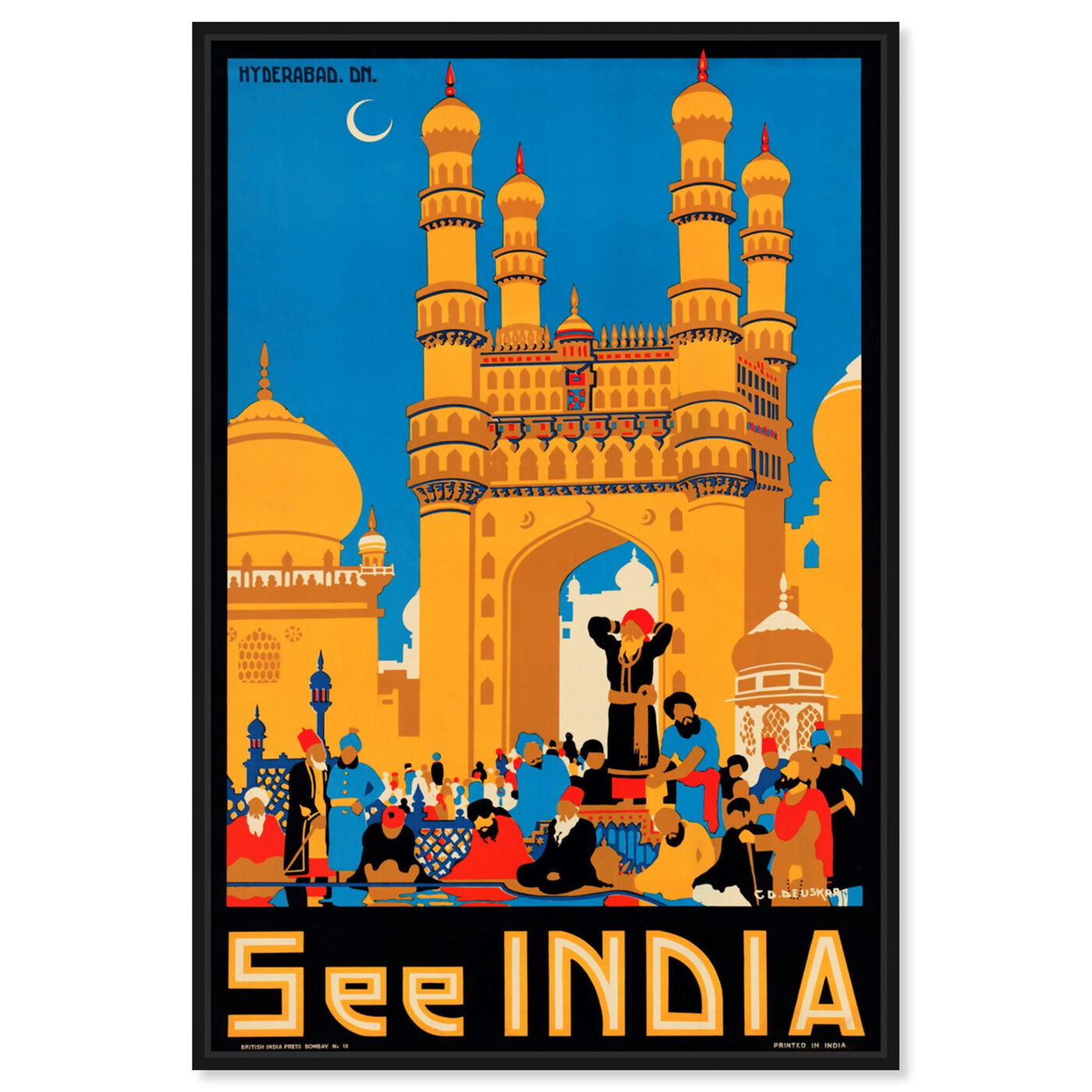 Front view of See India featuring world and countries and asian countries art.