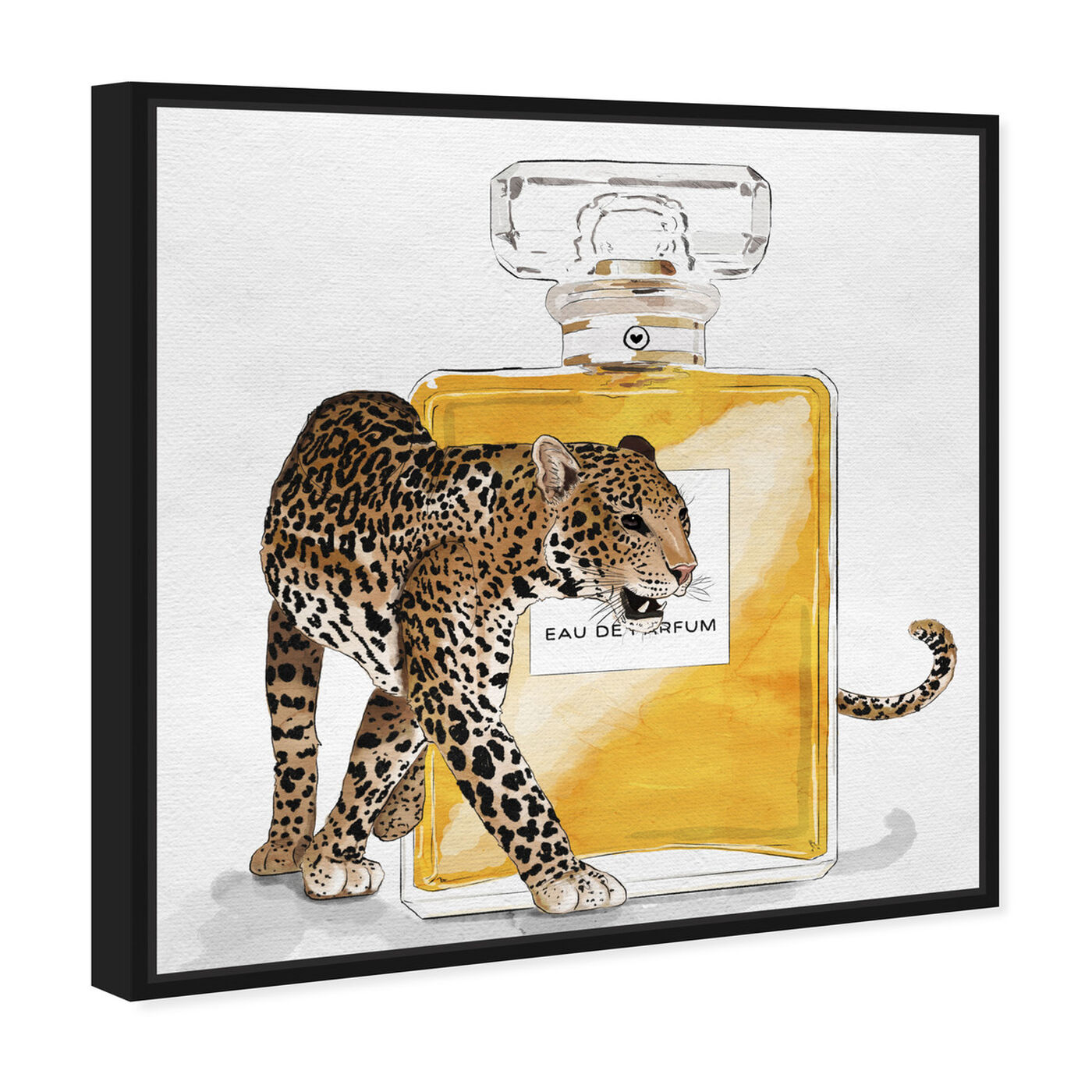 Angled view of Exotic Perfume Leopard featuring fashion and glam and perfumes art.
