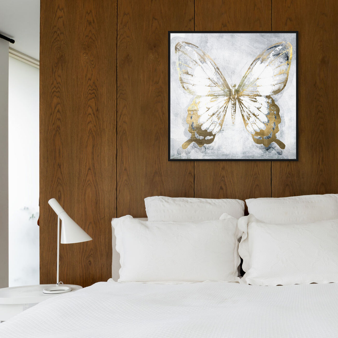 Hanging view of Butterfly Eroded featuring animals and insects art.