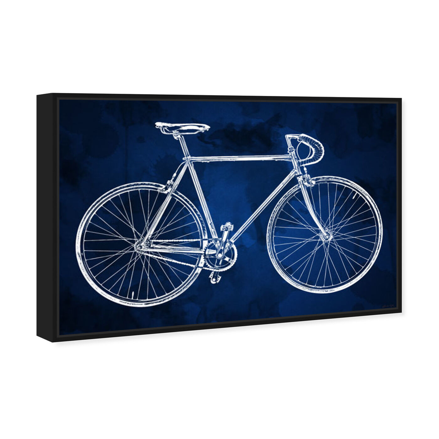 Angled view of Fixie featuring transportation and bicycles art.
