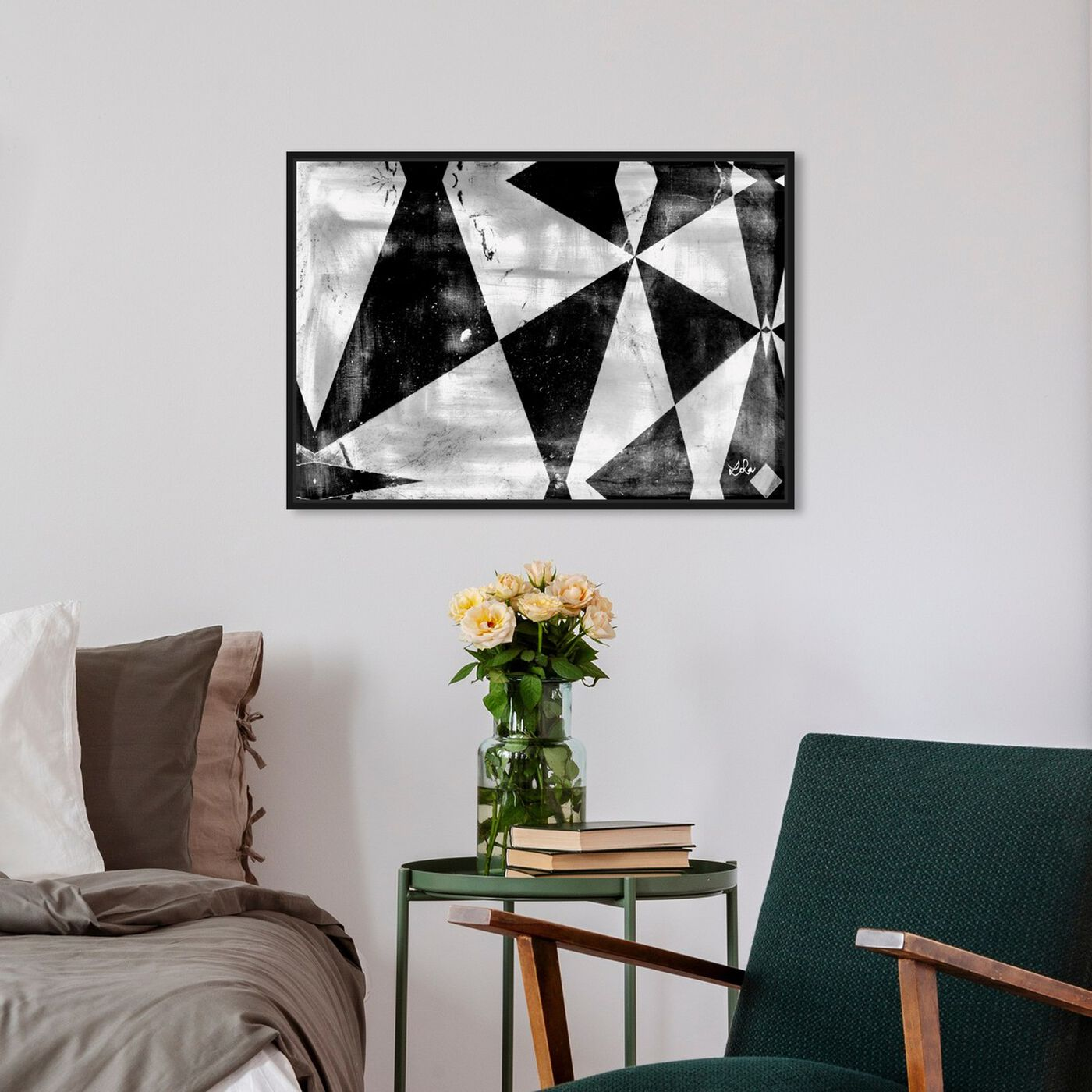 Hanging view of Creative Fuel featuring abstract and geometric art.