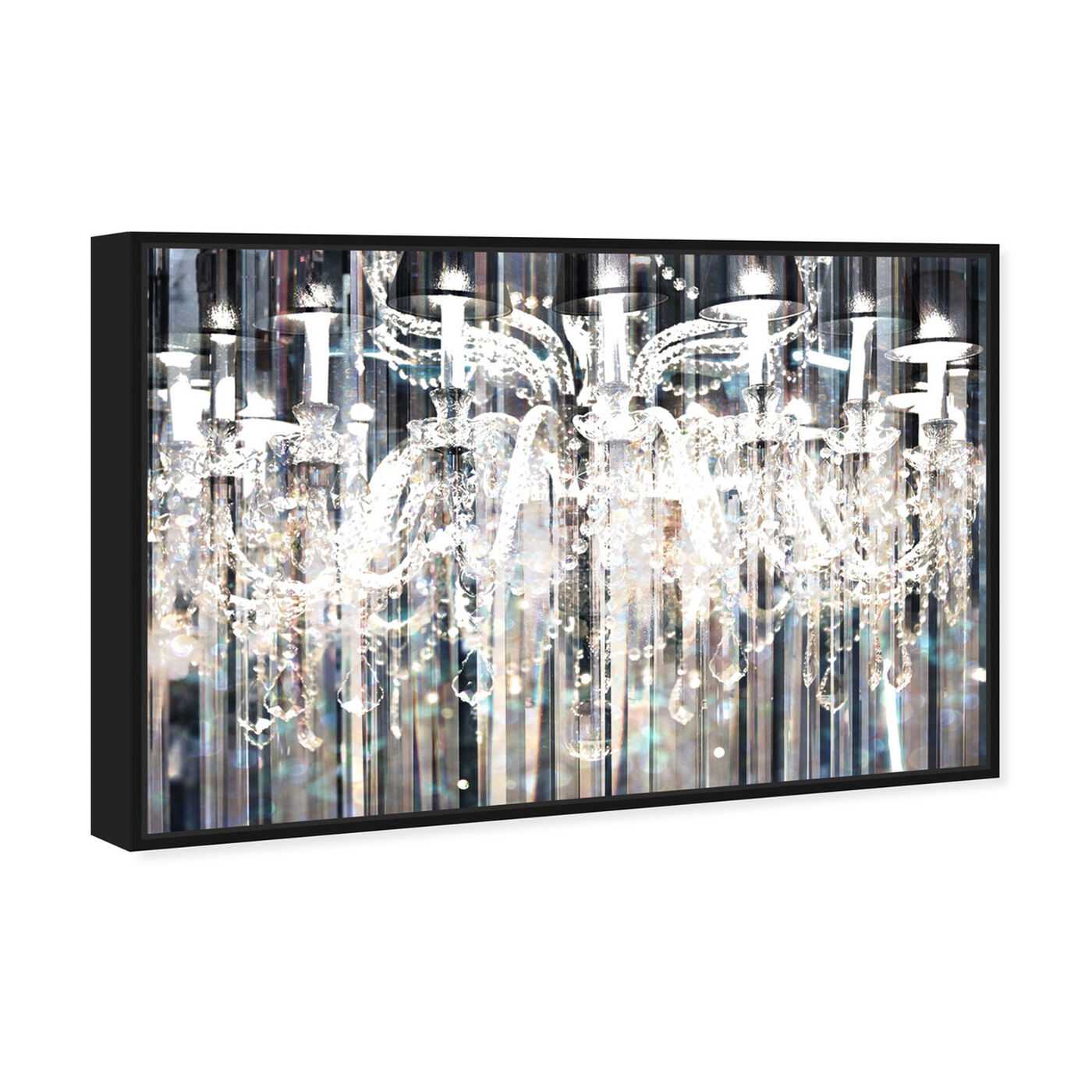 Angled view of Diamond Shower featuring fashion and glam and chandeliers art.