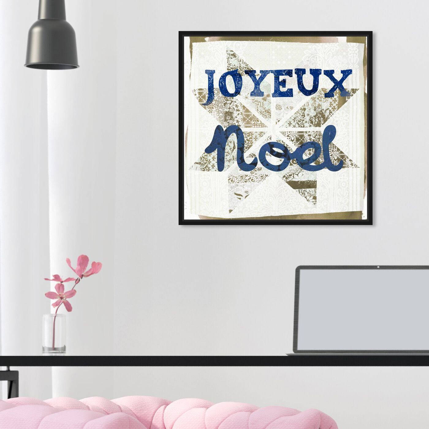 Hanging view of Star Noel Blue featuring holiday and seasonal and holidays art.