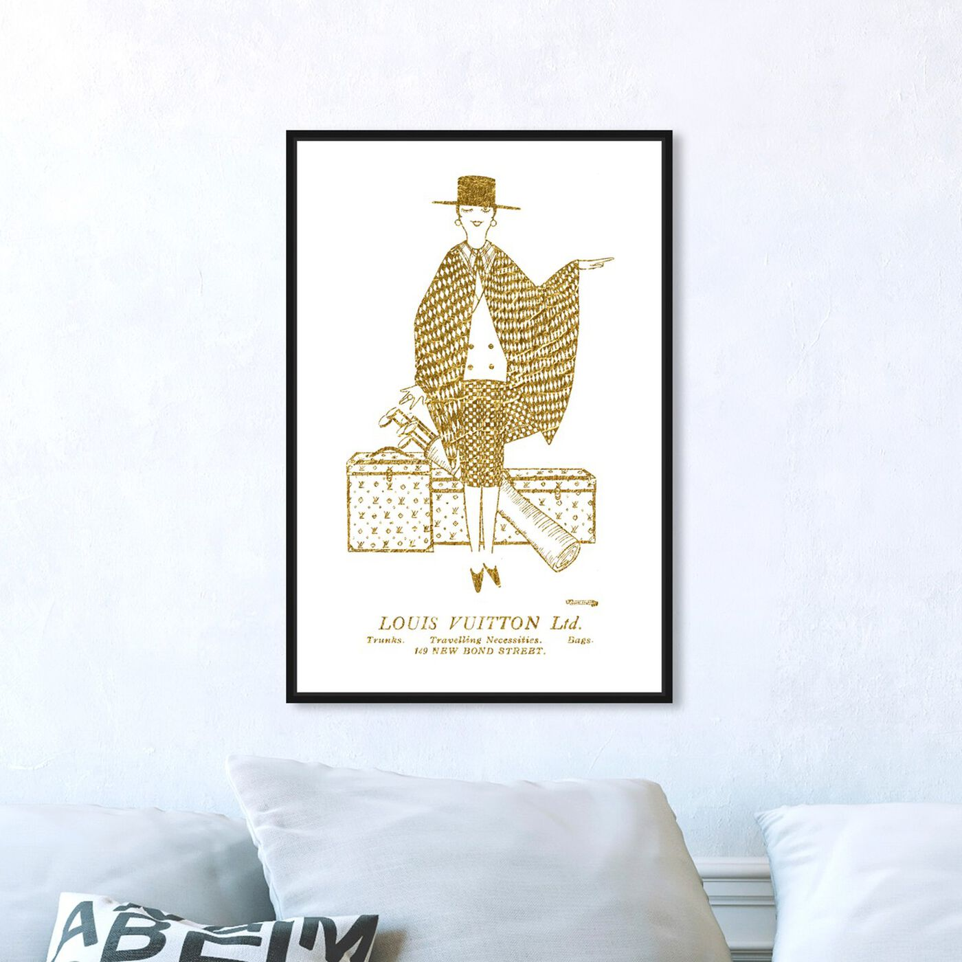 Hanging view of Travelling Necessities featuring fashion and glam and travel essentials art.