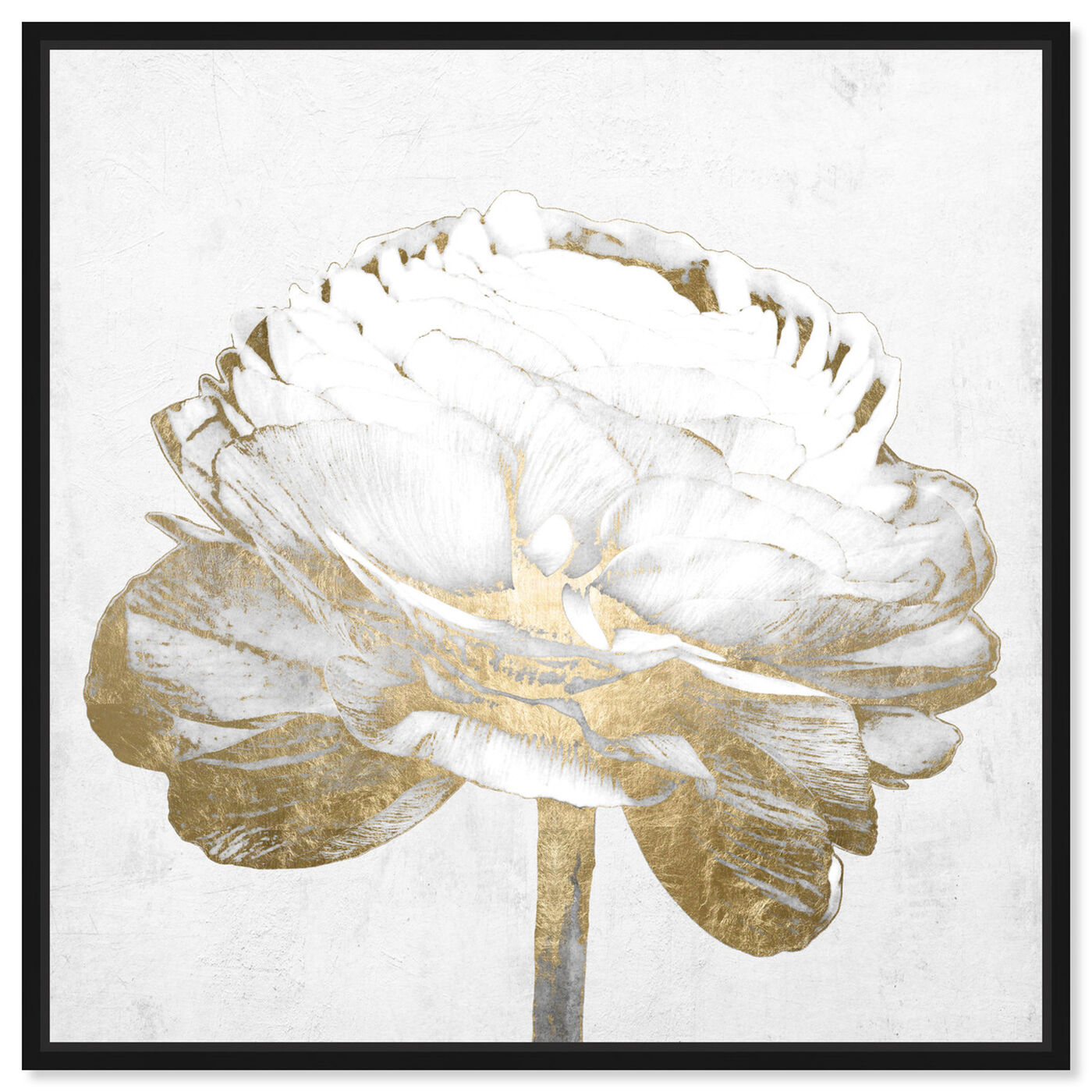 Front view of White Love Peony Gold featuring fashion and glam and fashion art.