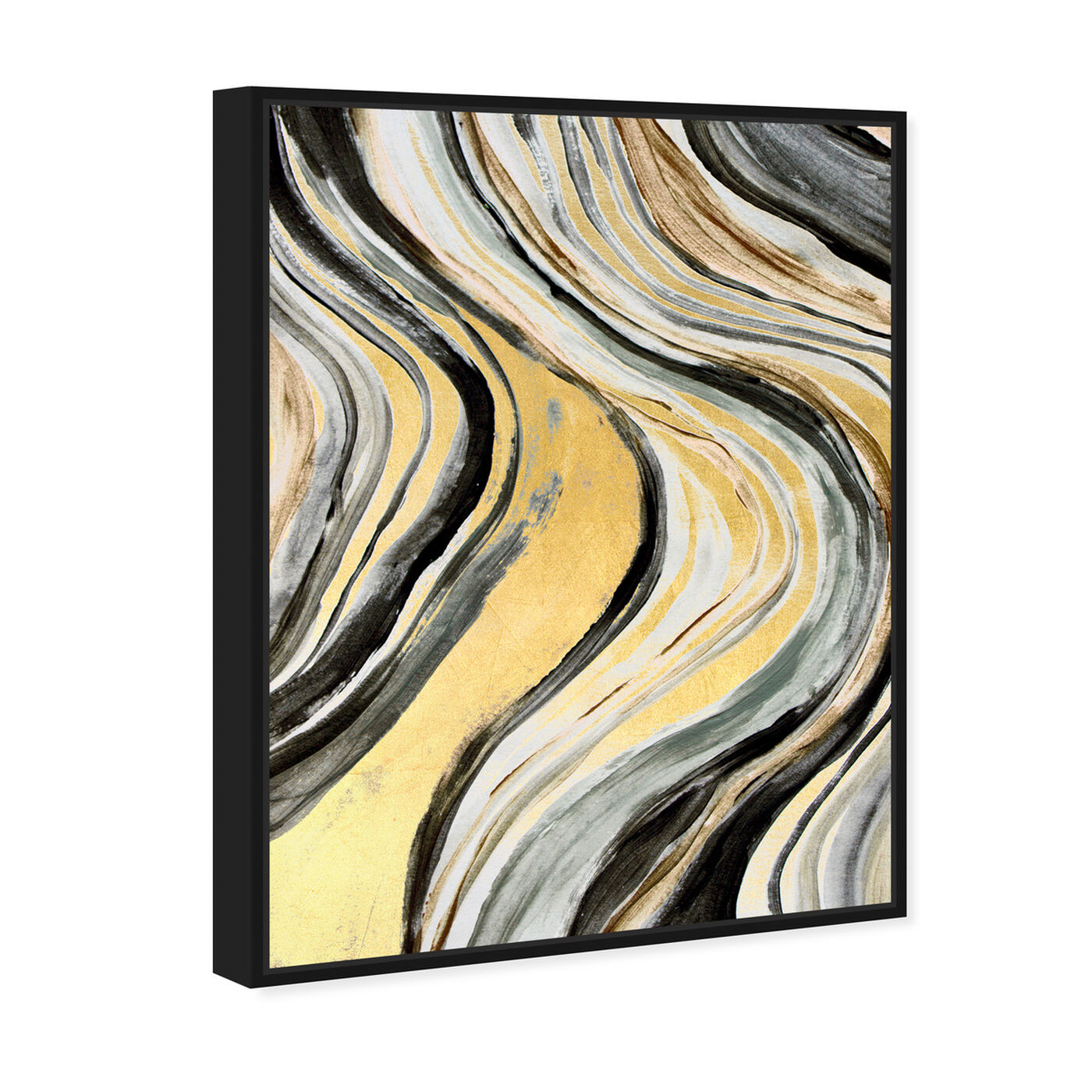 Angled view of Golden Geode Flow featuring abstract and paint art.