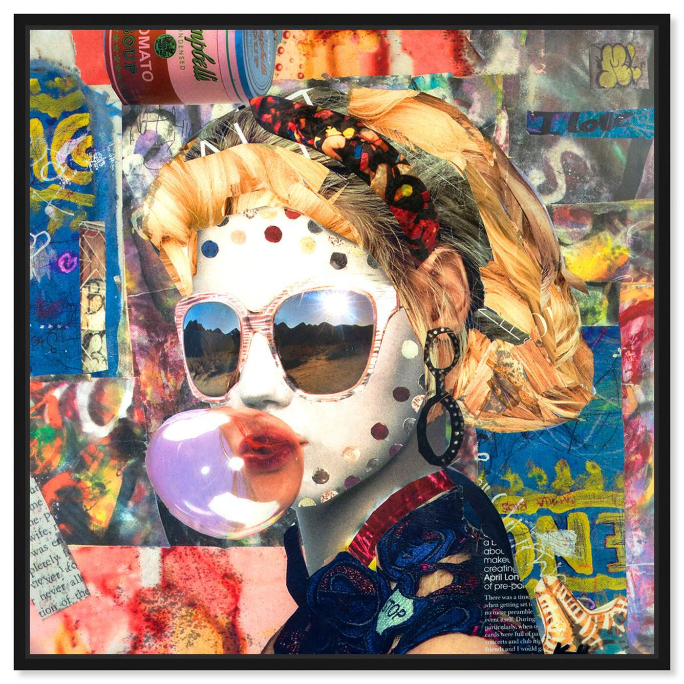 Front view of Katy Hirschfeld - Bubblegum featuring fashion and glam and portraits art.