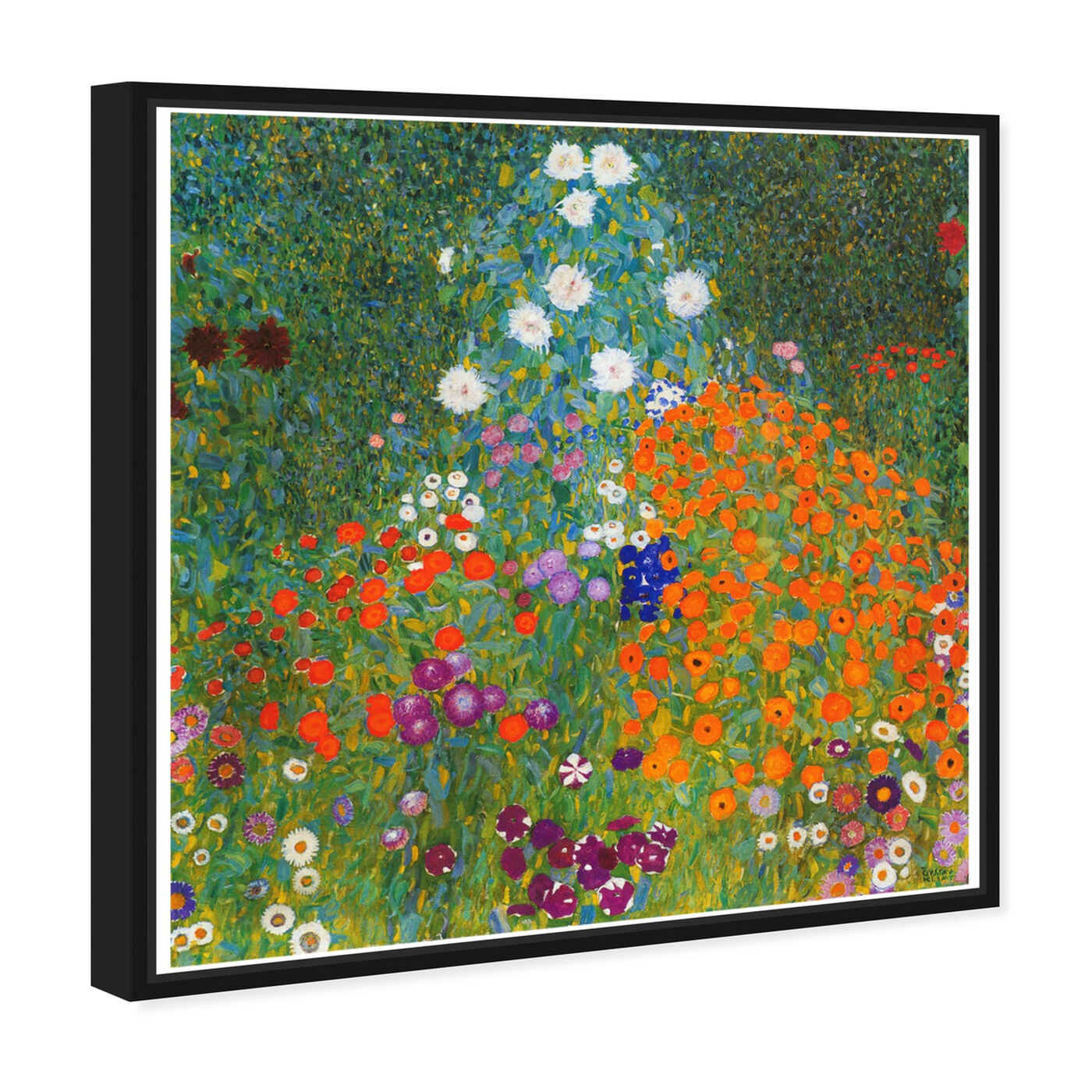 Angled view of Klimt - Cottage Garden featuring floral and botanical and gardens art.