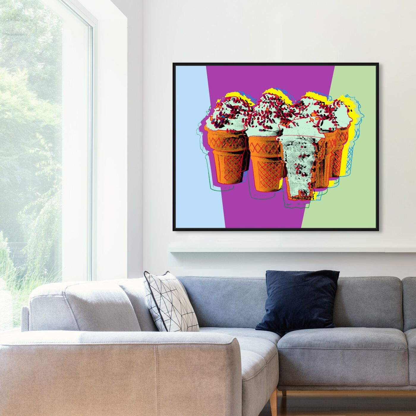Hanging view of Classic Ice Cream featuring food and cuisine and ice cream and milkshakes art.