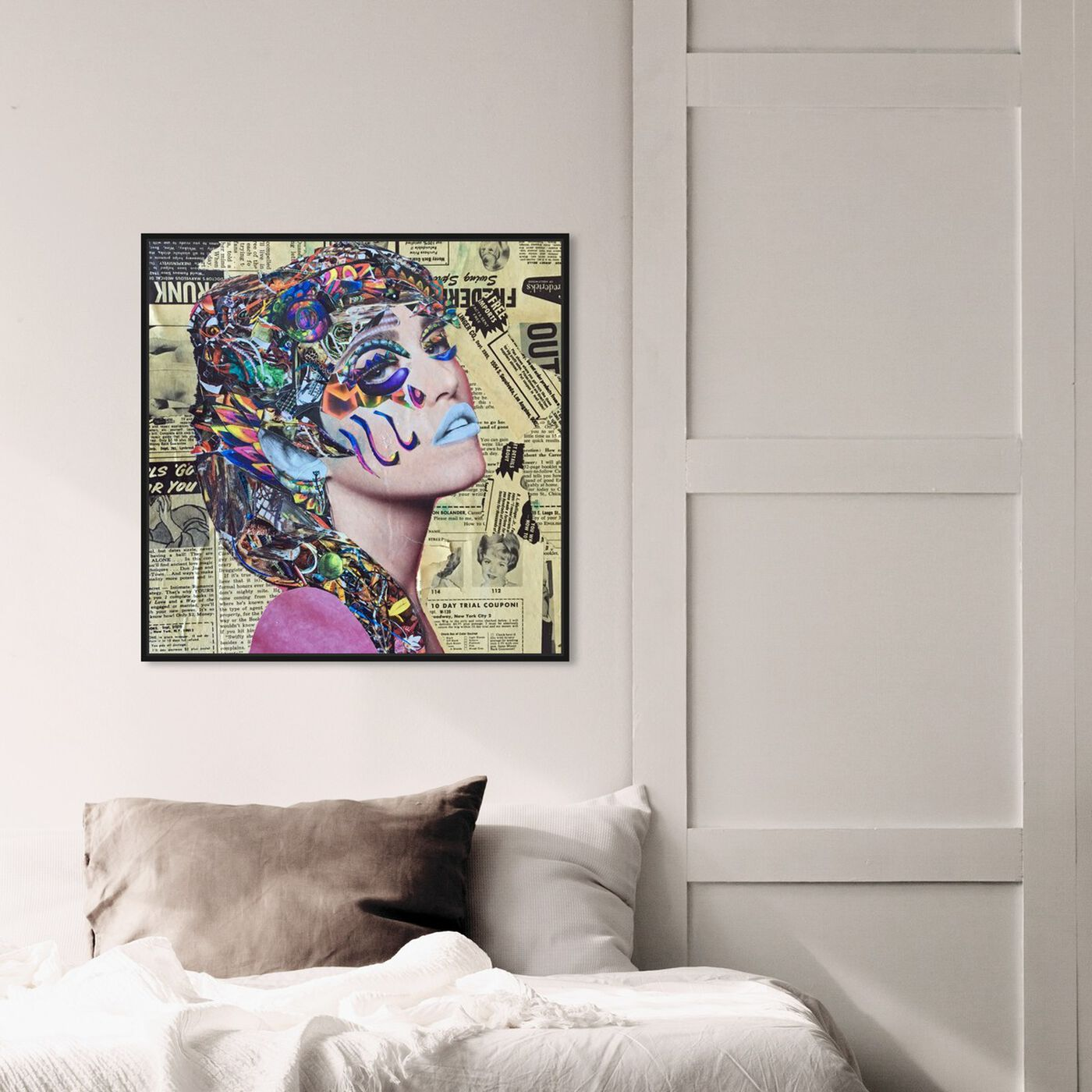 Hanging view of Hieroglyphics by Katy Hirschfeld featuring fashion and glam and portraits art.