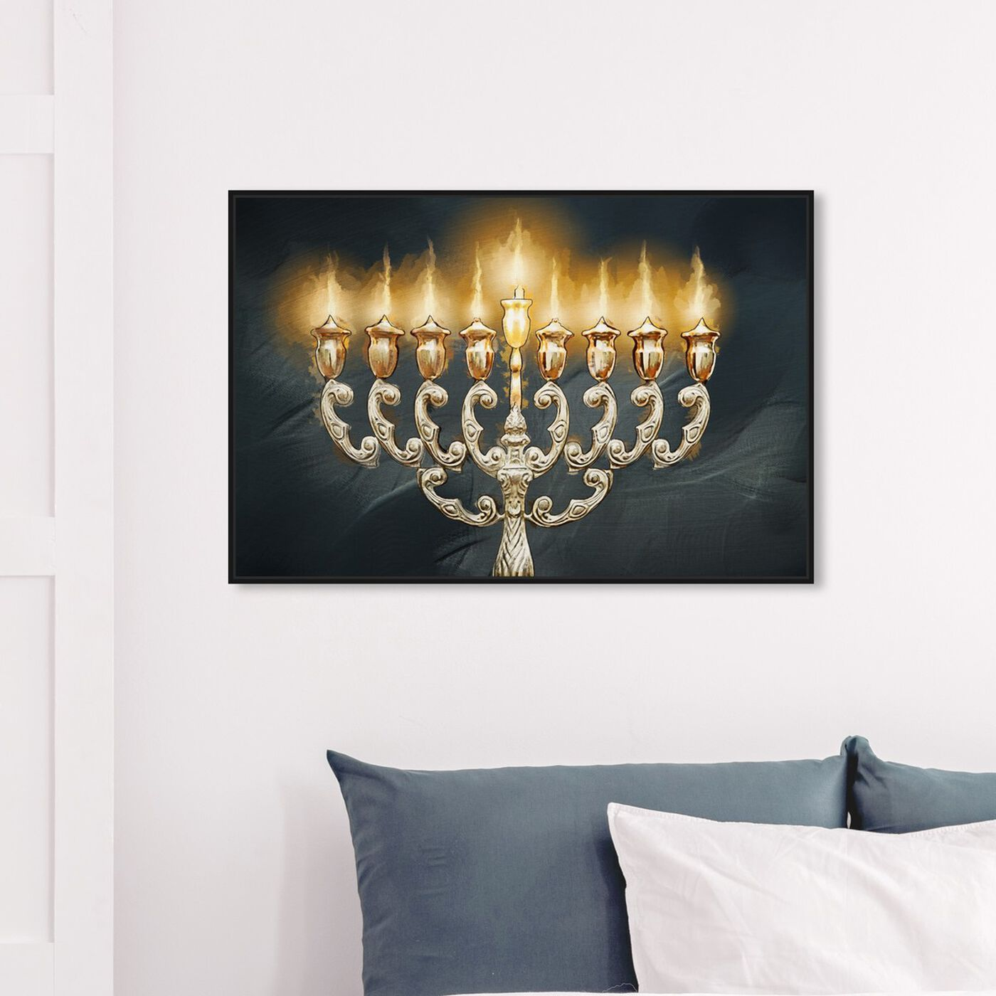 Hanging view of Light of each Night featuring classic and figurative and french décor art.