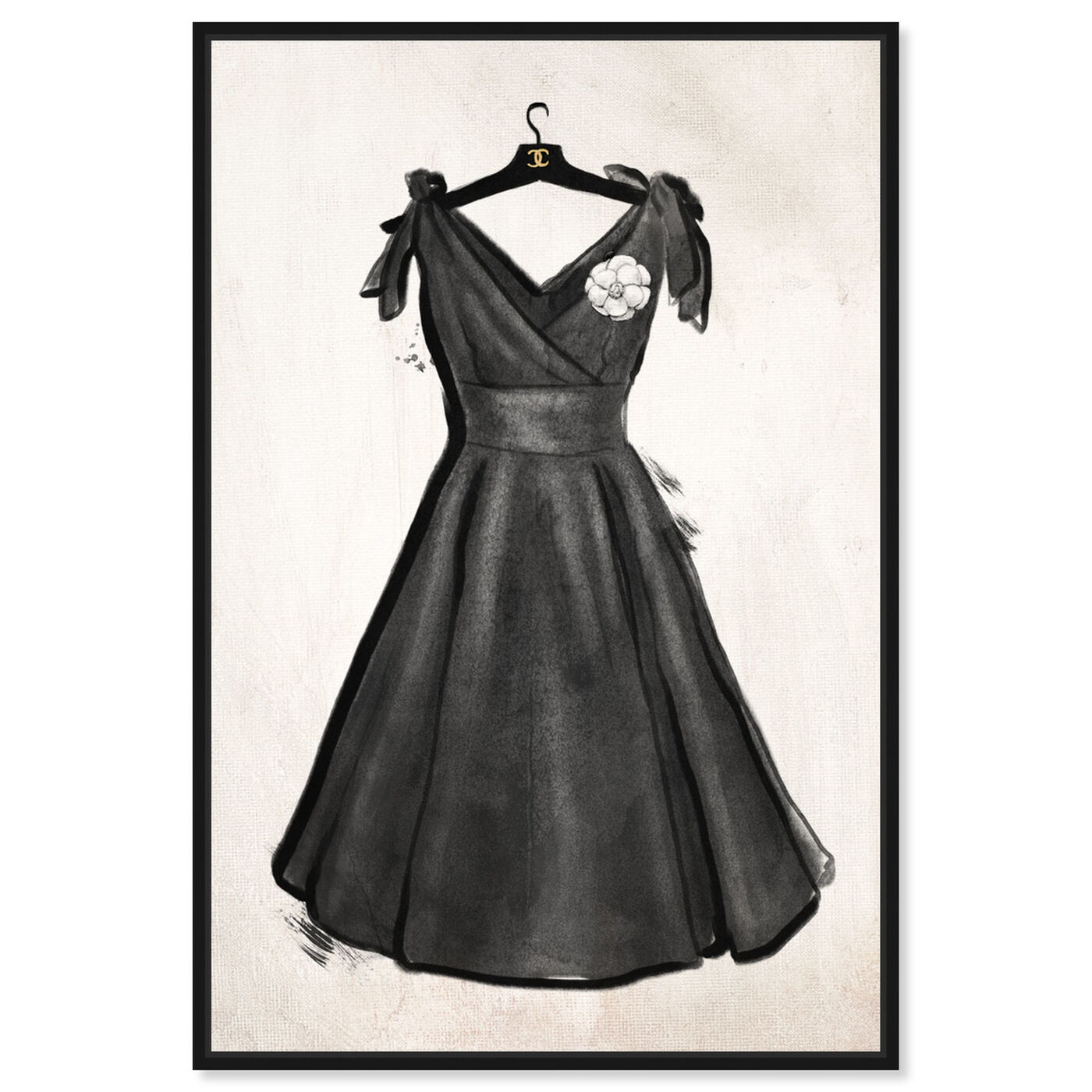 Front view of Little Black Dress II featuring fashion and glam and dress art.