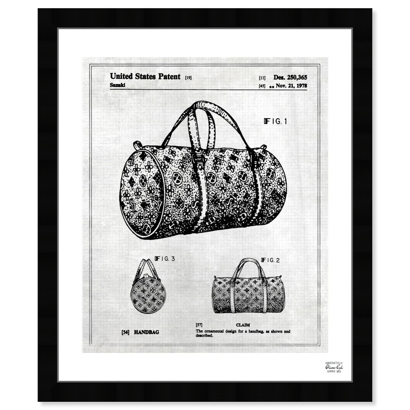 Front view of Handbag 1978 featuring fashion and glam and handbags art.