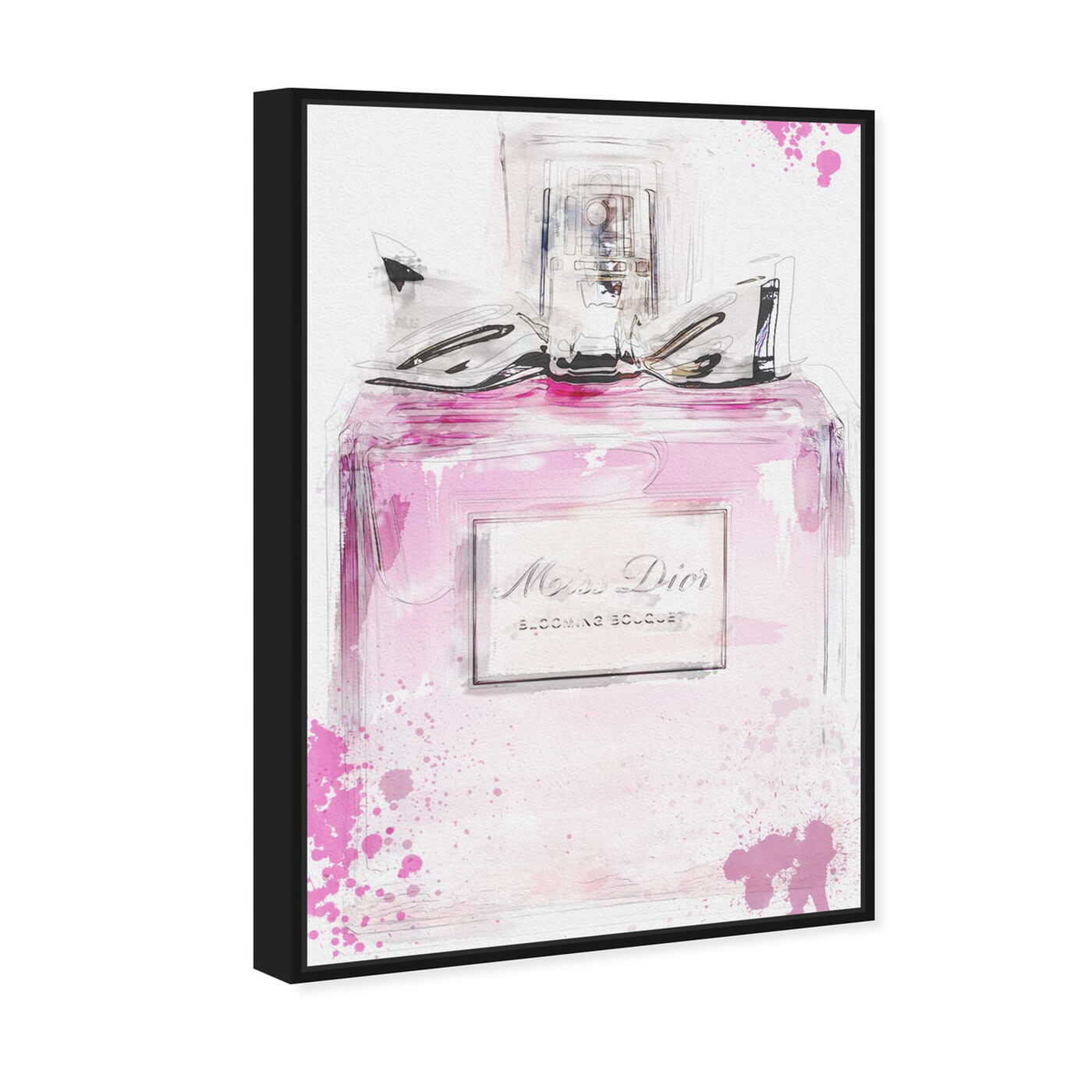 Angled view of Perfume and Bow featuring fashion and glam and perfumes art.