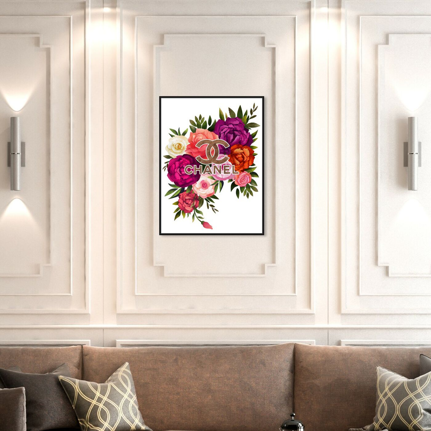 Hanging view of The Coco Floral featuring floral and botanical and florals art.