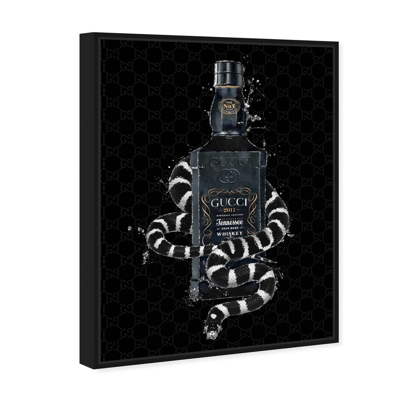 Angled view of Italian Black Label featuring fashion and glam and perfumes art.