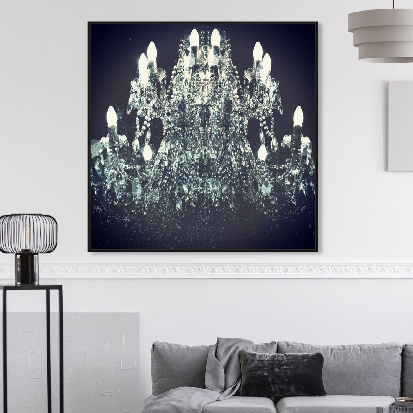 Hanging view of Orfeo's Dream featuring fashion and glam and chandeliers art.