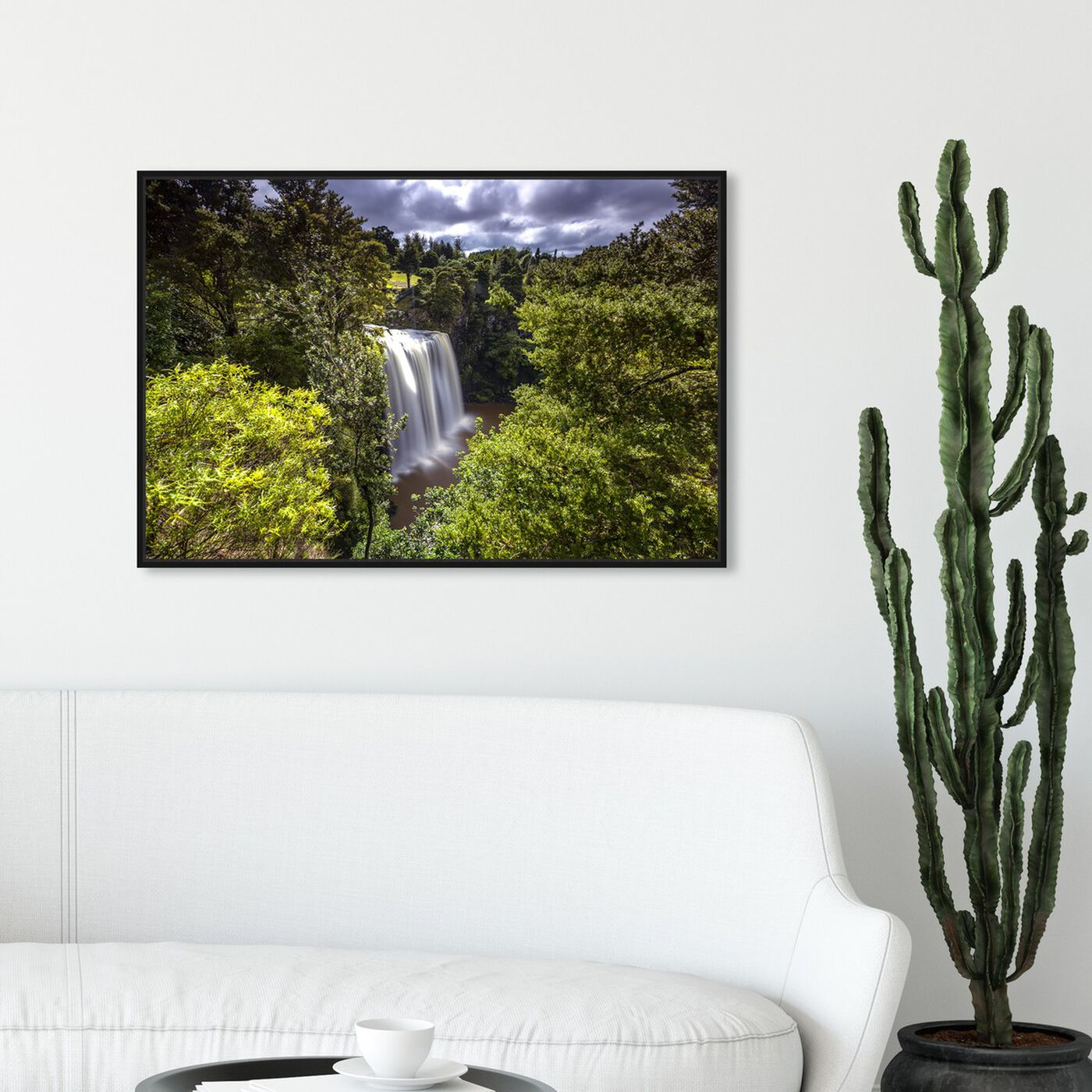 Hanging view of Curro Cardenal - Rainforest IV featuring nature and landscape and nature art.