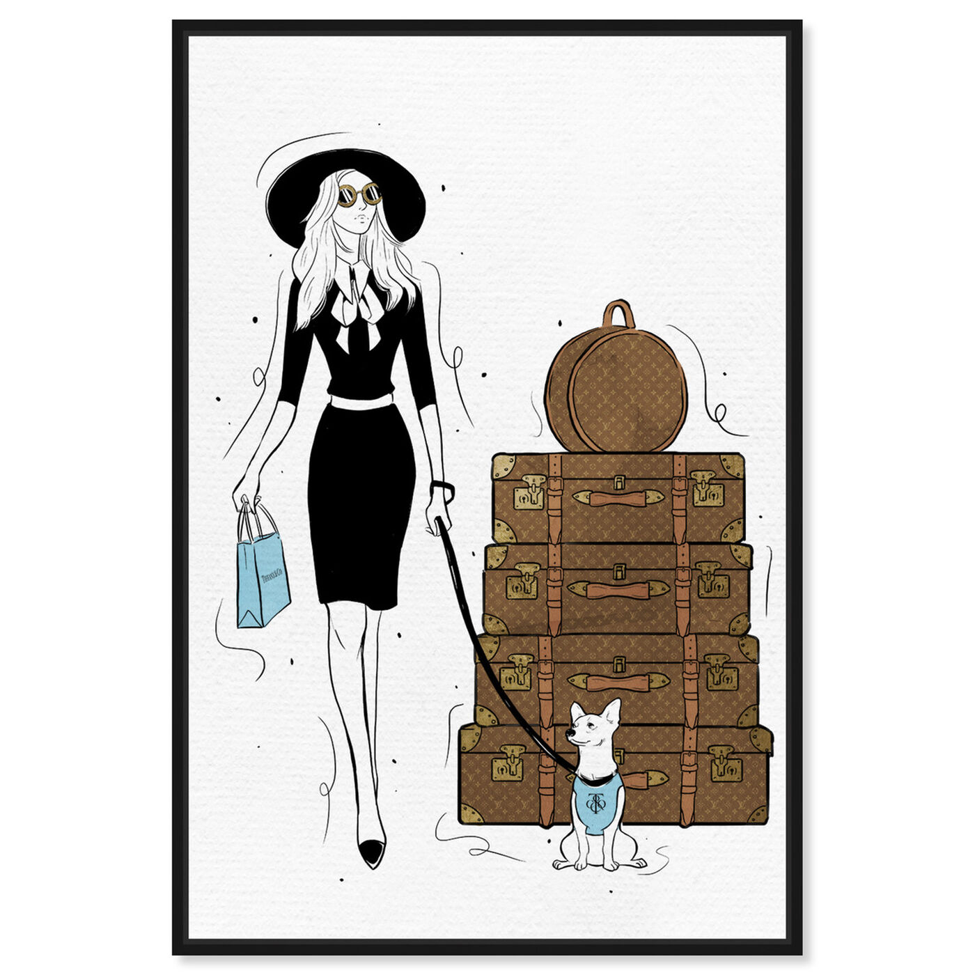 Front view of Traveling Companion featuring fashion and glam and travel essentials art.