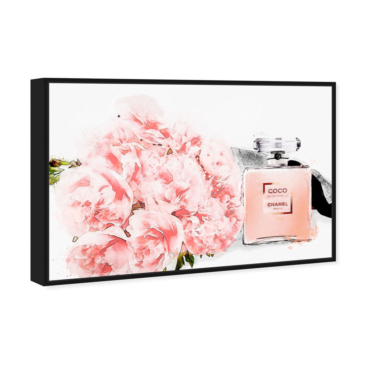 Angled view of Flowers and Perfume featuring fashion and glam and perfumes art.