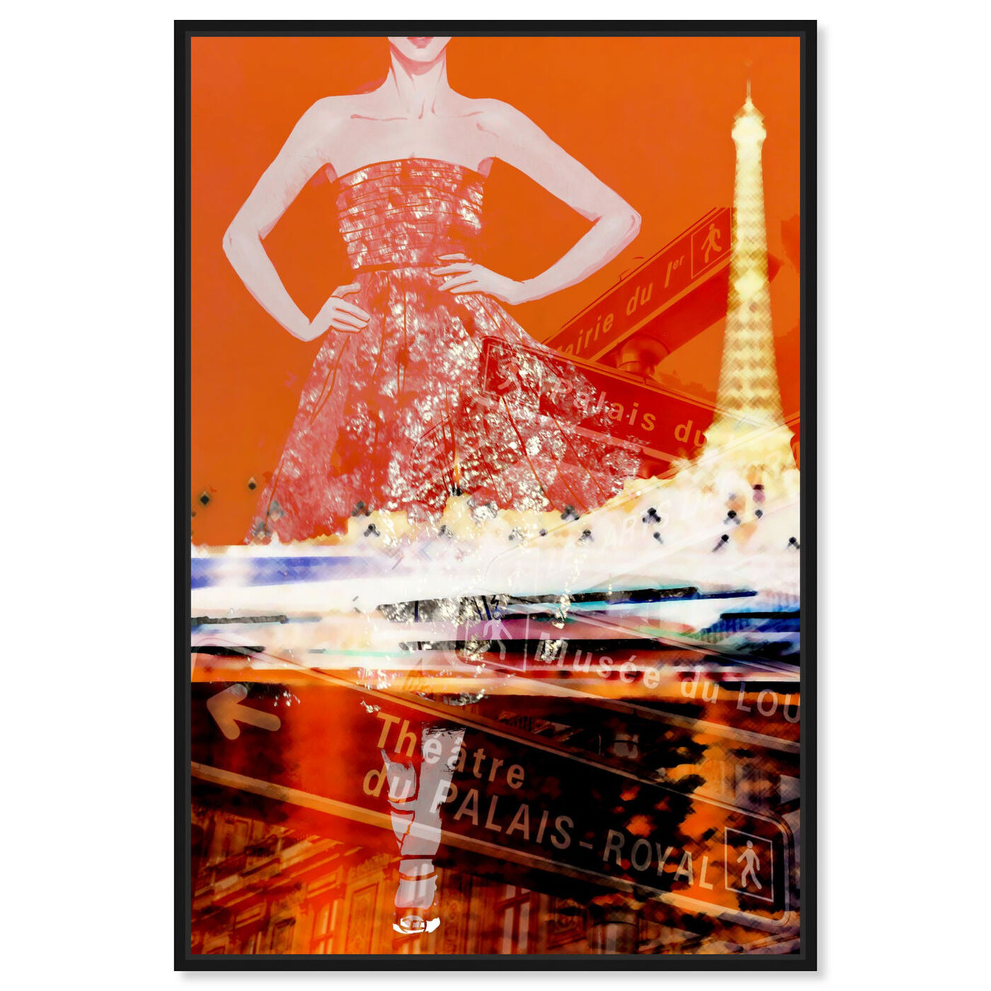 Front view of Paris Is My Runway featuring fashion and glam and dress art.
