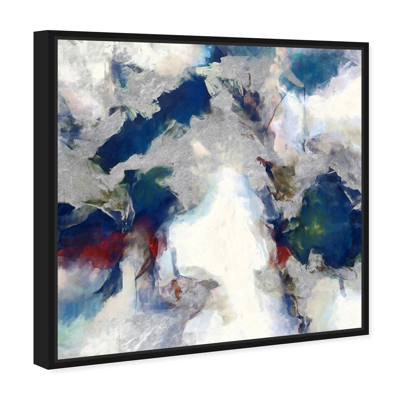 Angled view of Explosive Shade featuring abstract and textures art.