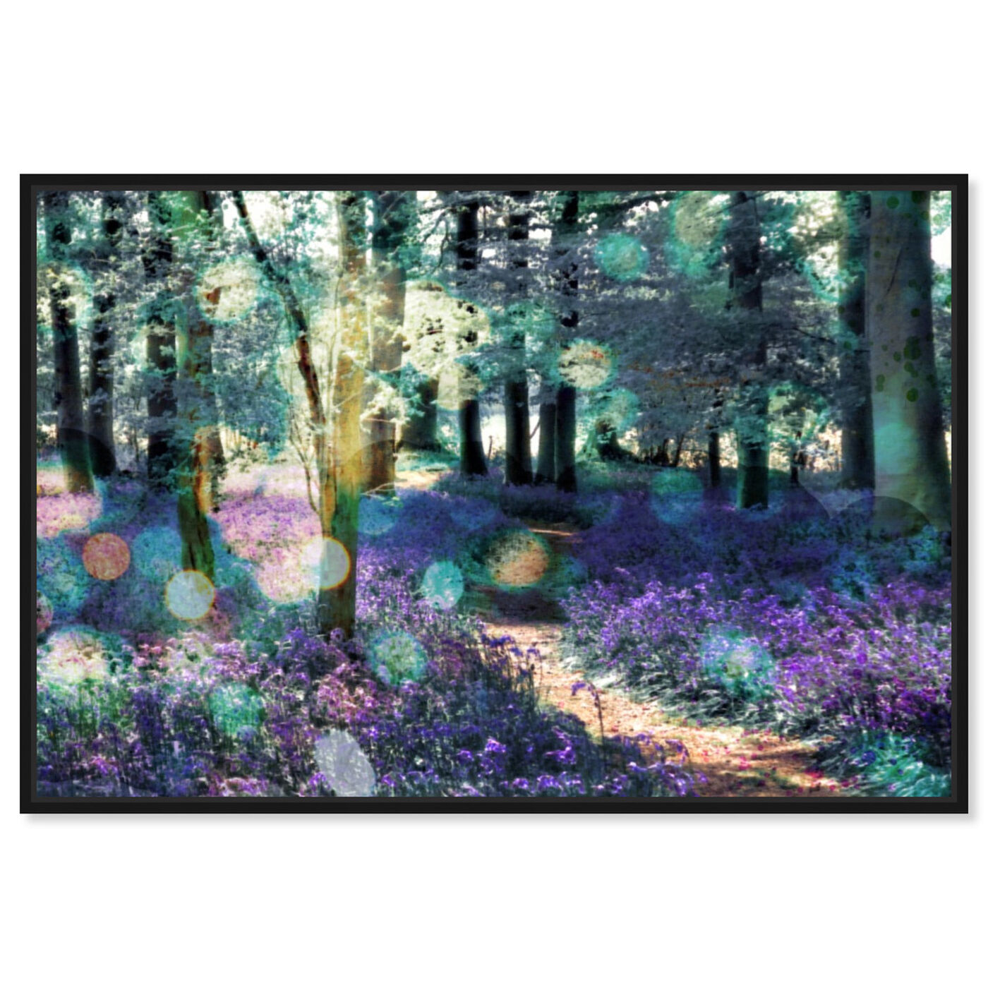 Front view of Lavender Morning featuring nature and landscape and forest landscapes art.