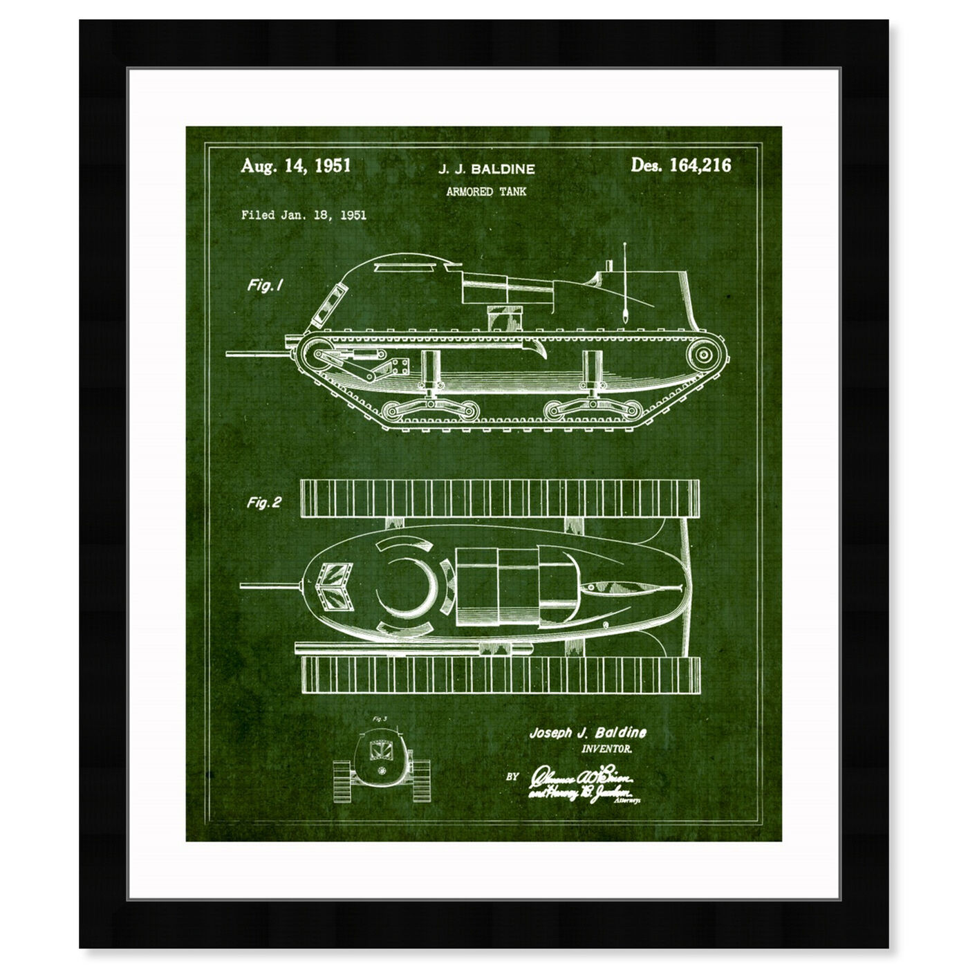Front view of Armored Tank 1951 featuring transportation and military transportation art.