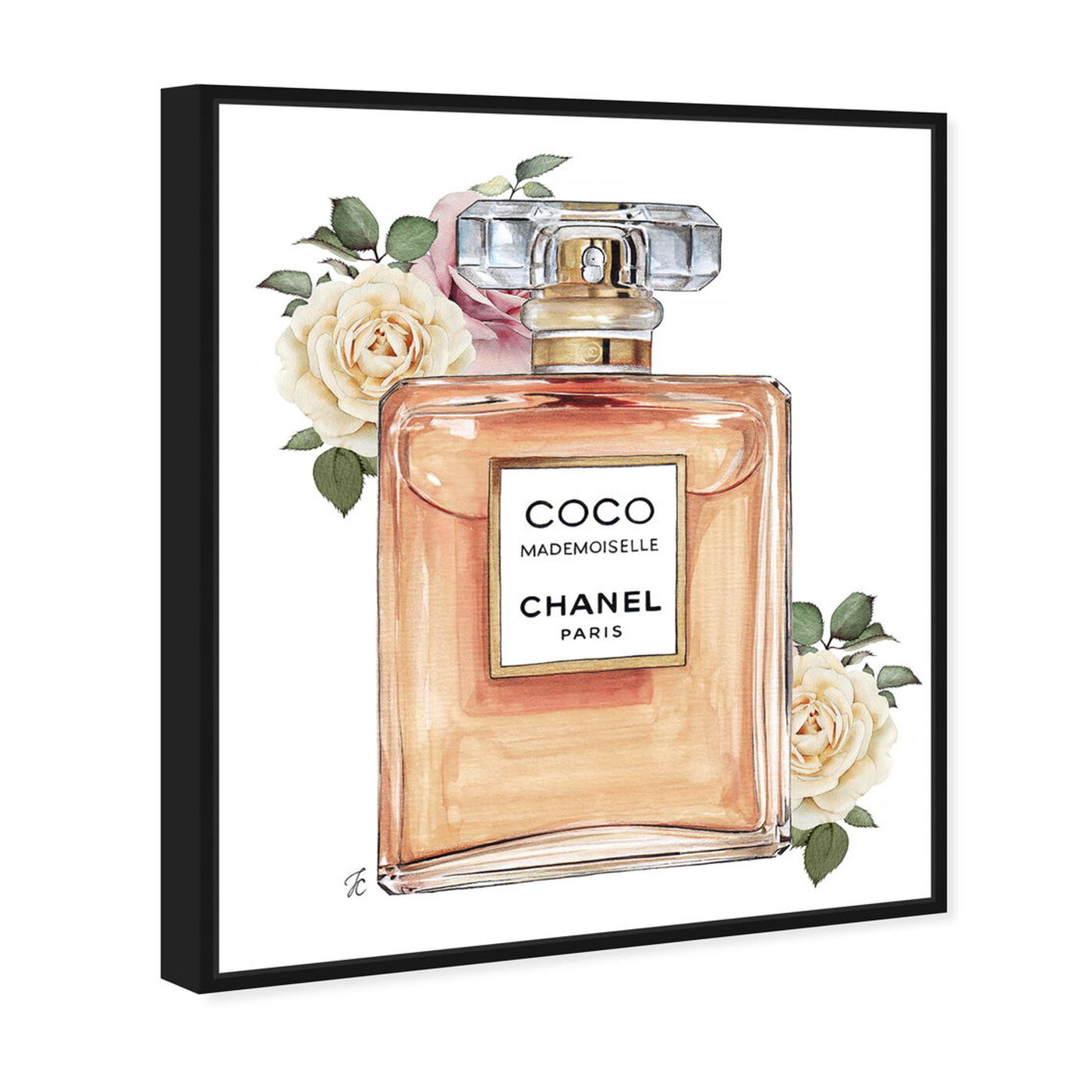 Angled view of Doll Memories - Mademoiselle Paris featuring fashion and glam and perfumes art.