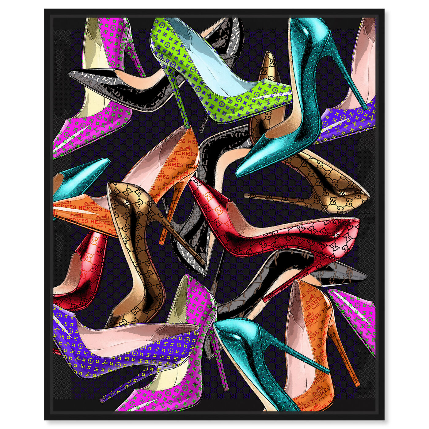 Front view of Want More Shoes featuring fashion and glam and shoes art.