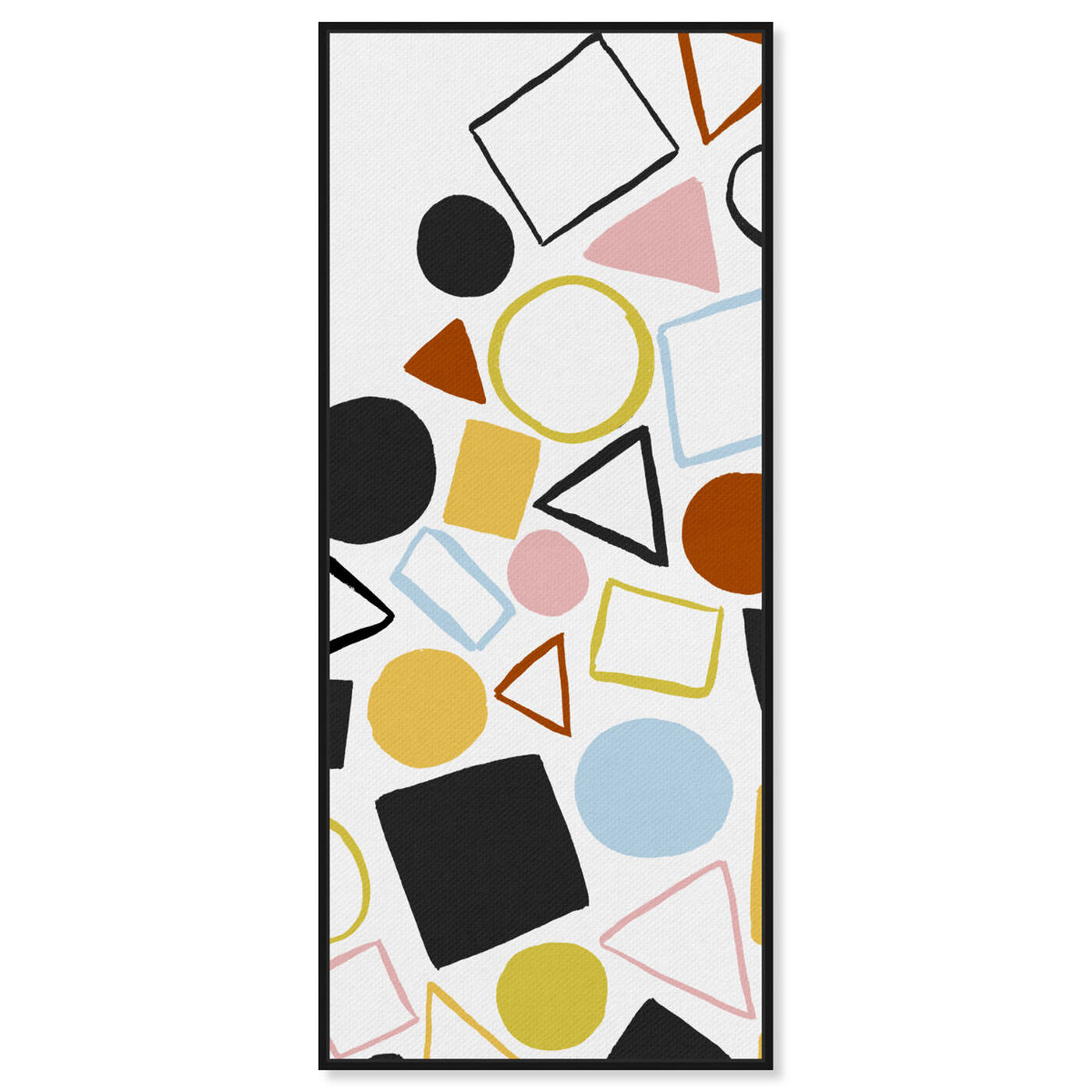 Front view of Geometric Game Colorful featuring abstract and geometric art.